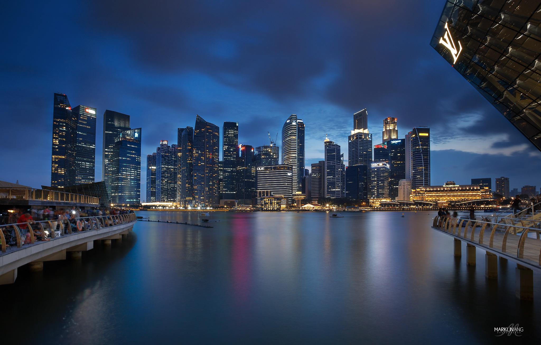 Wallpaper People Sunset City Cityscape Night Singapore