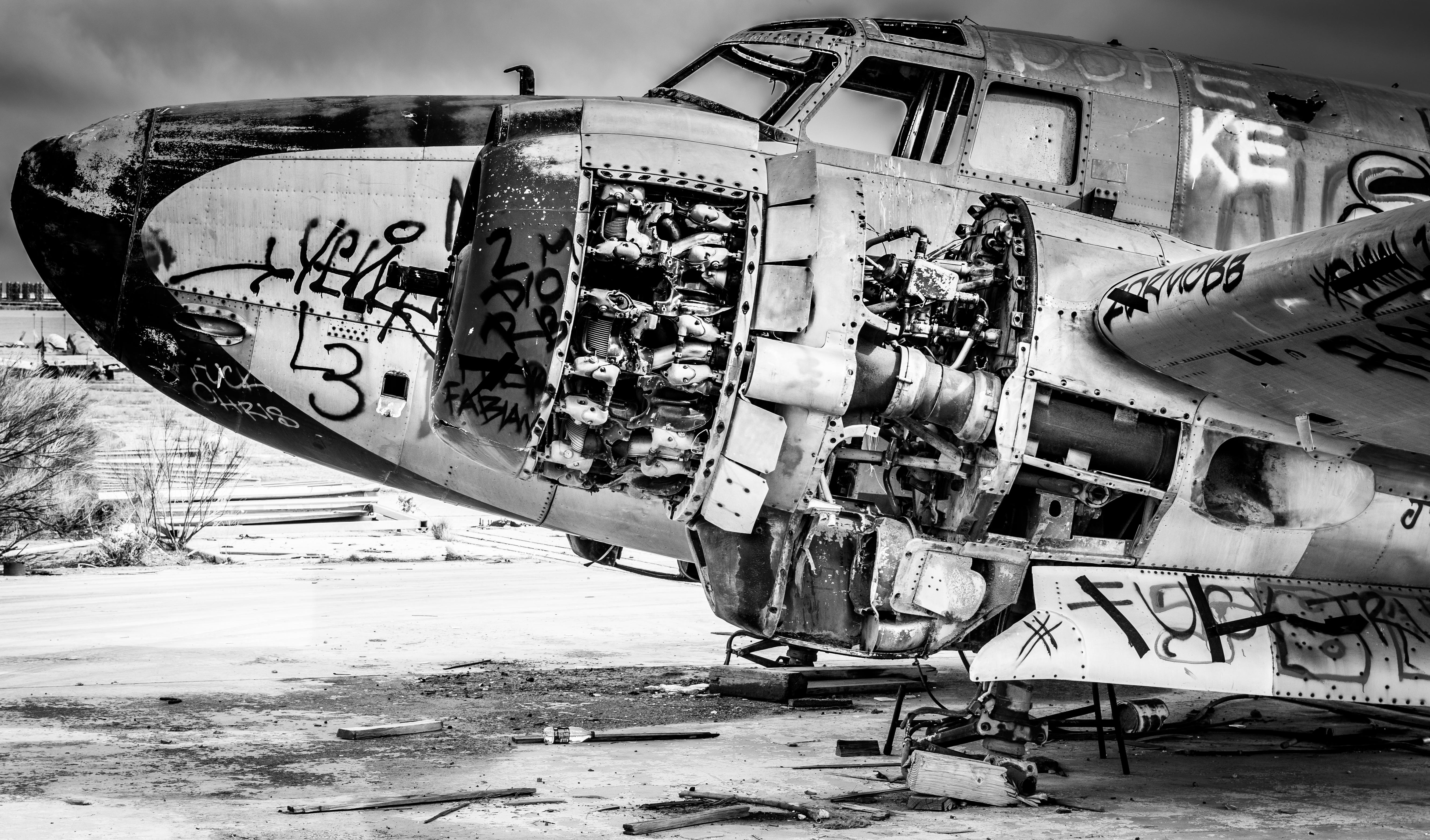 Wallpaper People Old Vehicle Airplane Wreck Boeing