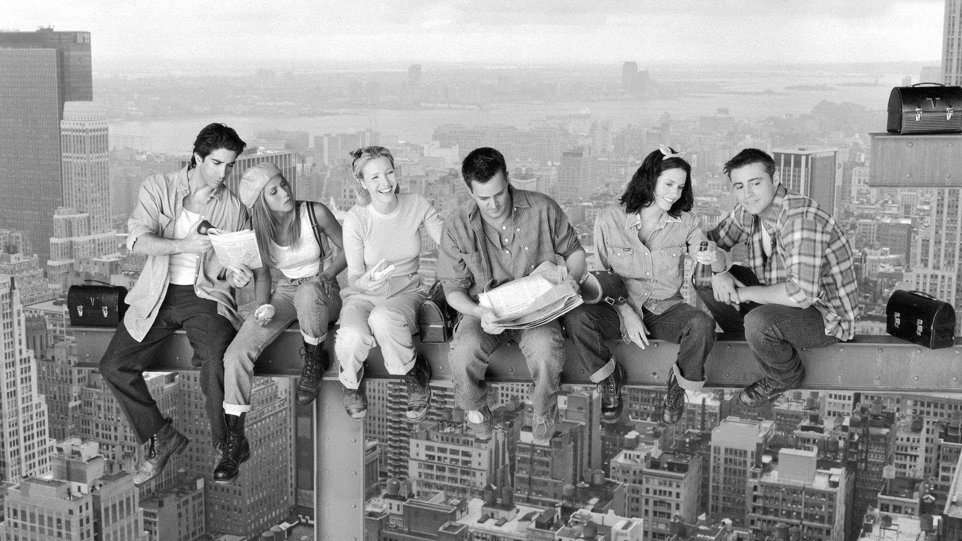 Wallpaper : people, street, road, Chandler Bing, Friends TV series