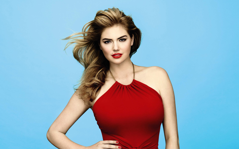 59b93527a87261 Menschen Frau Modell- lange Haare Berühmtheit Kleid Mode Haar Kate Upton  Badebekleidung Kleidung Supermodel Schönheit
