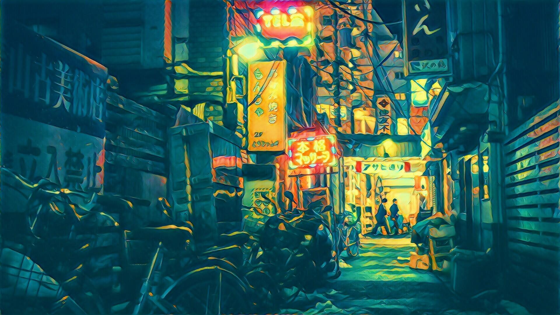 Hình Nền Nhiếp ảnh Màu Xanh Da Trời Lọc Tokyo Nghệ