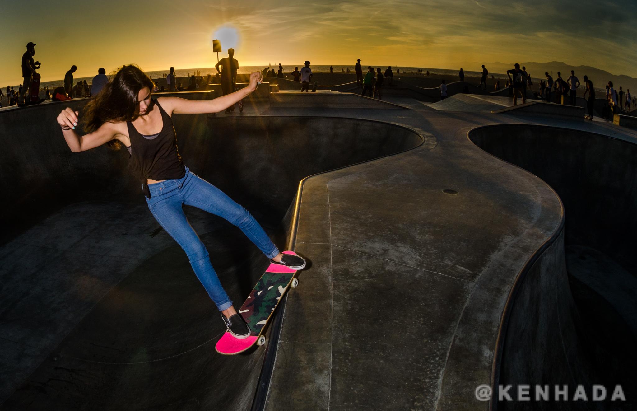 Pink Venice Sunset Beach Girl Camo Skatepark Skateboard Vans Skater Skatergirl