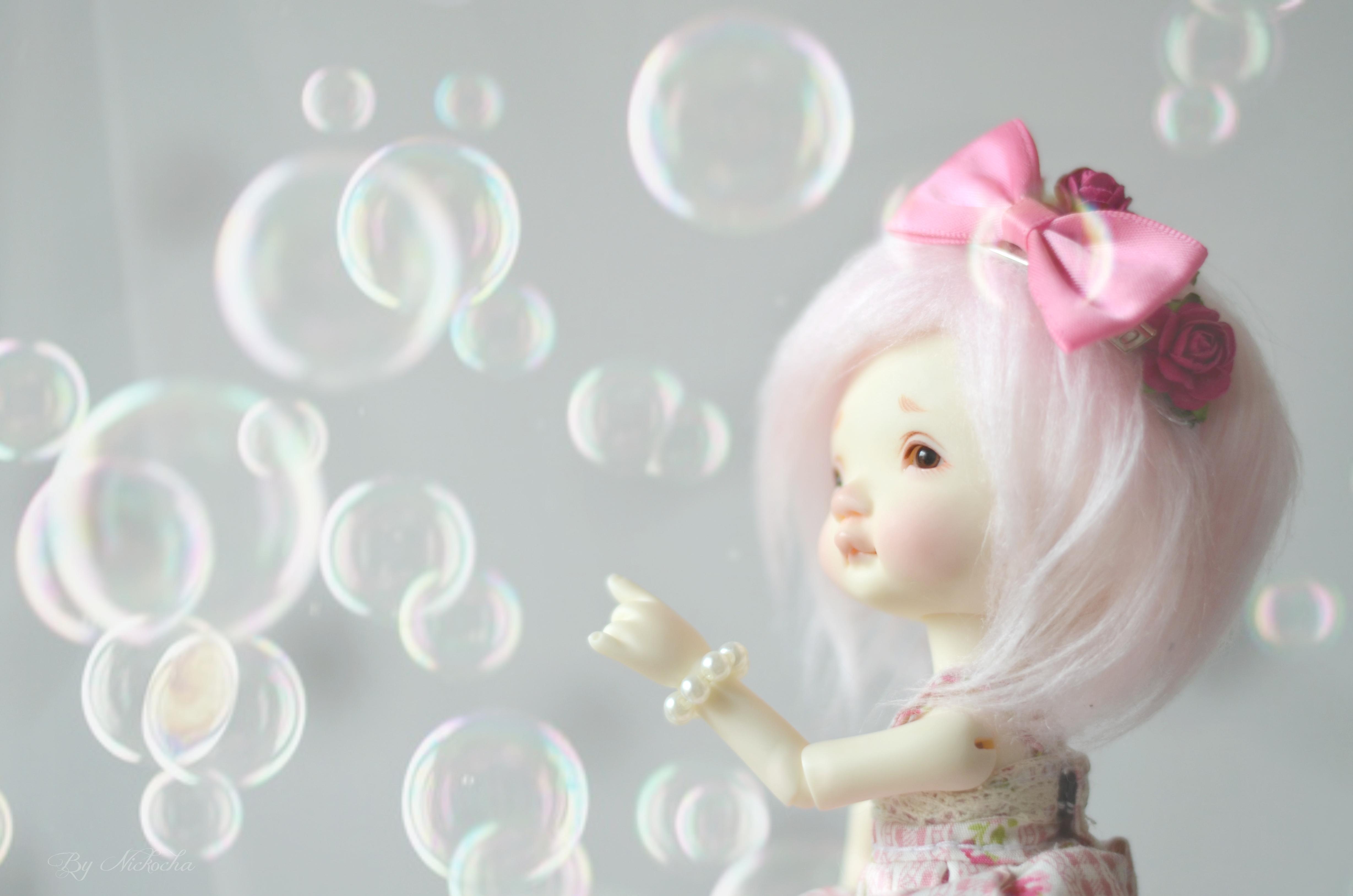 Sfondi Rosa Palla Pelliccia Bambole Parrucca Bjd Snodato