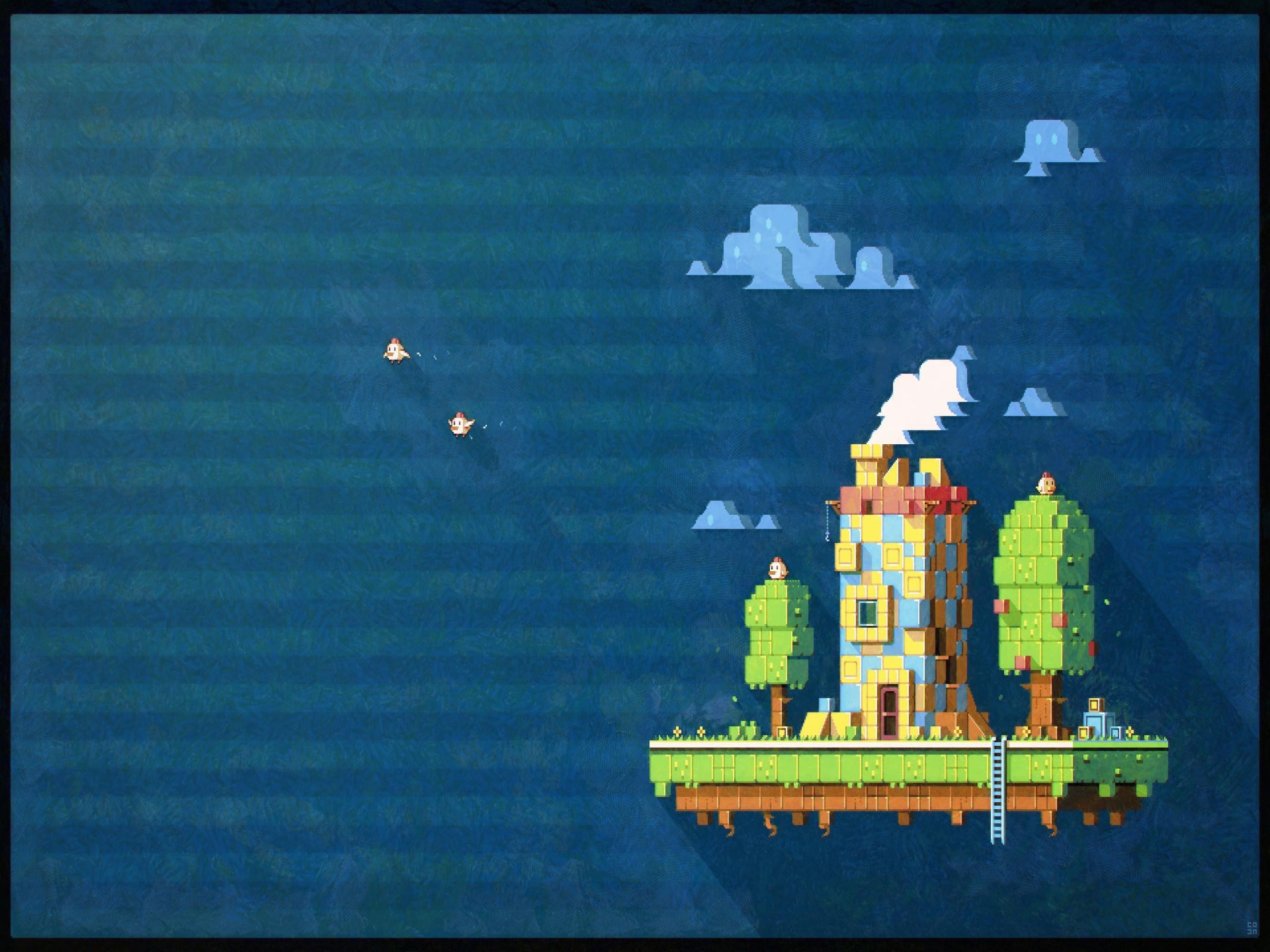 Wallpaper : pixel art, Fez, screenshot, ecosystem ...