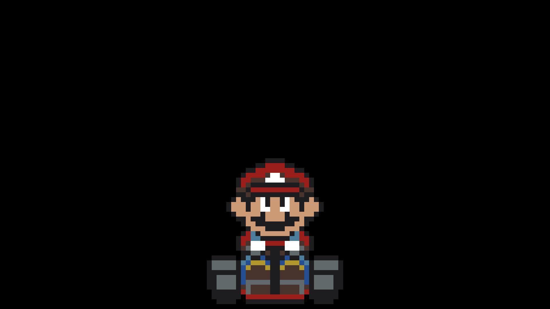 Wallpaper Pixel Art Pixels Super Mario Kart Screenshot