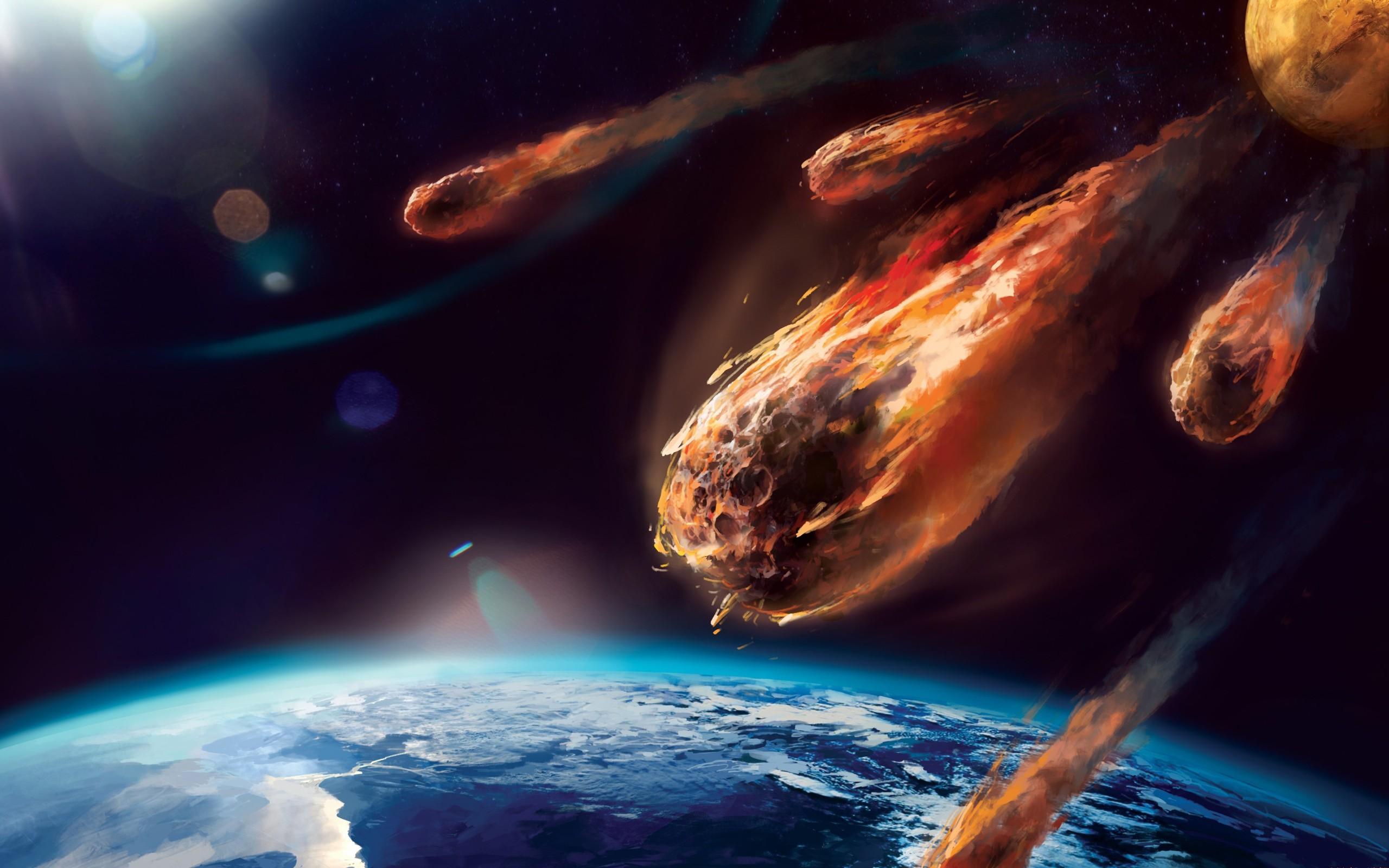 обои для рабочего стола космос метеориты № 610716 без смс