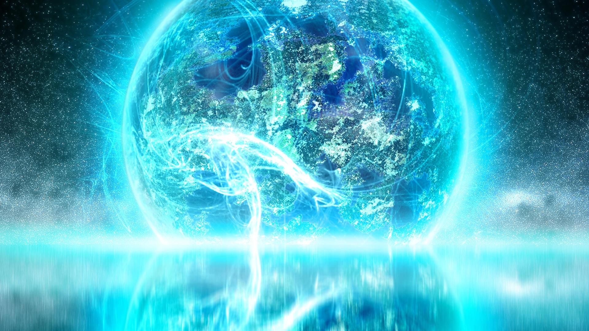 Planet Explosion Neon Glow