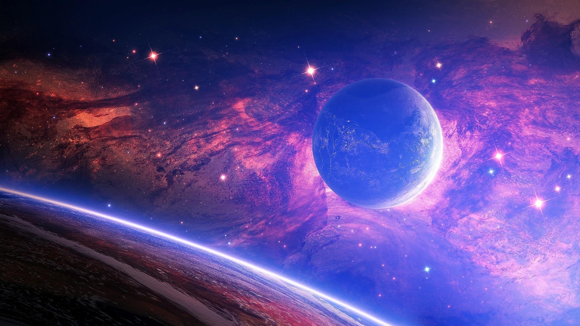 Planet Light Spots Space