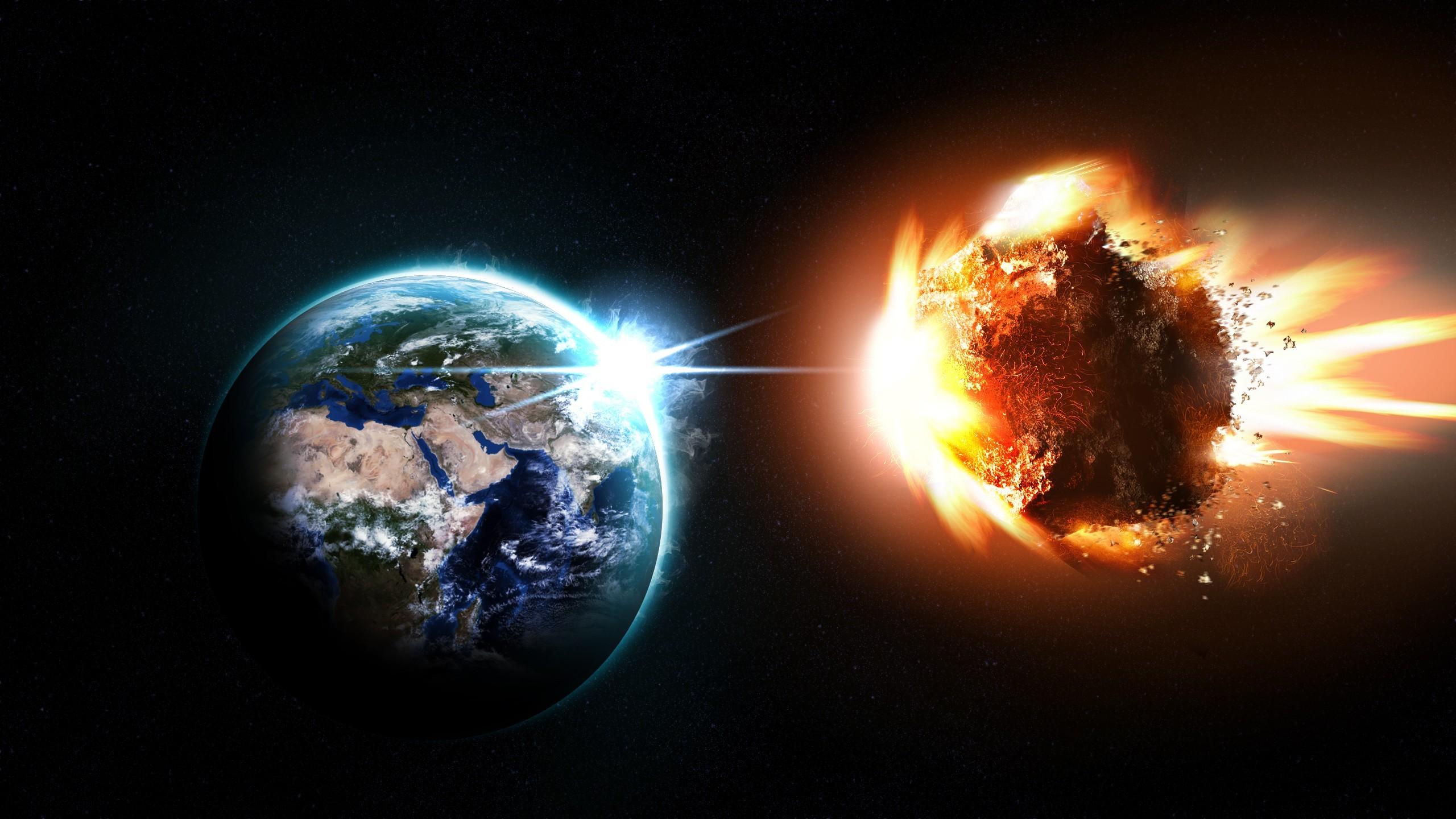 Sfondi pianeta spazio terra esplosione asteroide for Sfondi spazio hd