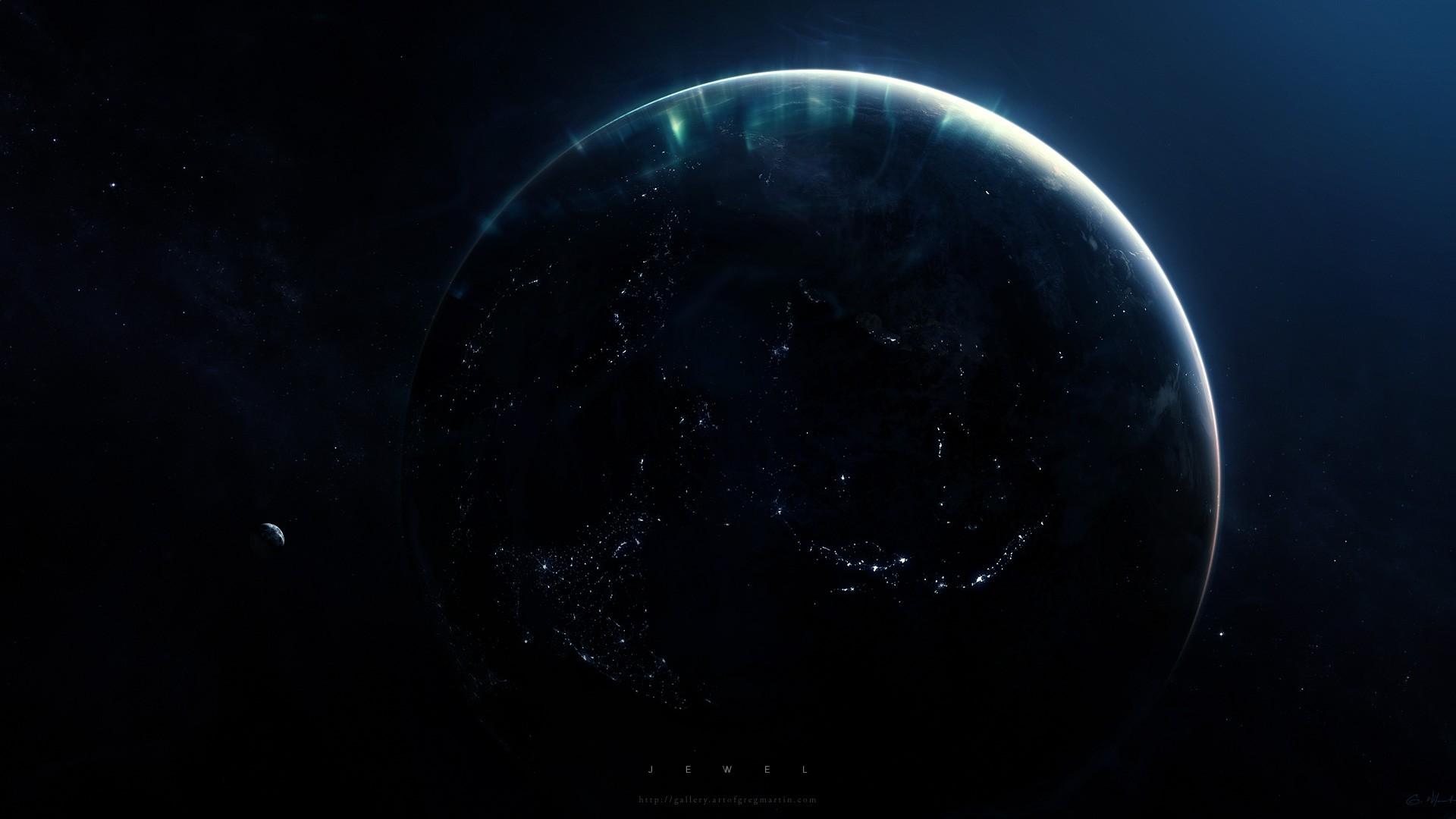 Wallpaper Planet Sky Artwork Earth Space Art