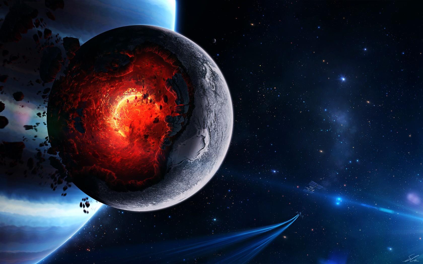 デスクトップ壁紙 惑星 スペース アートワーク Sf 世界 闇