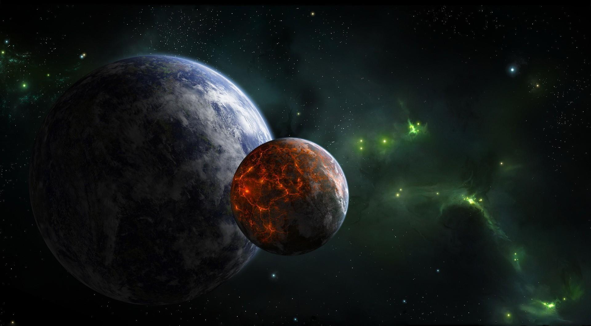 Wallpaper : planet, stars, Earth, nebula, atmosphere ...