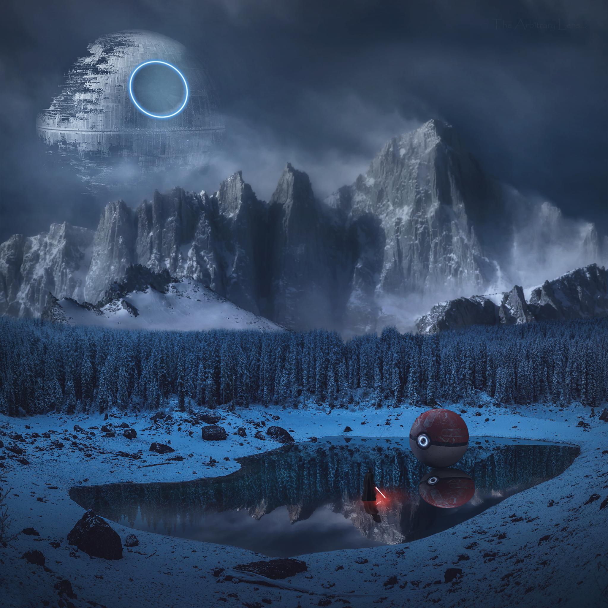 Wallpaper Pokemon Star Wars Vader Mountains Lake Pok Balls Lightsaber Winter 2048x2048 Afterworld 1596143 Hd Wallpapers Wallhere