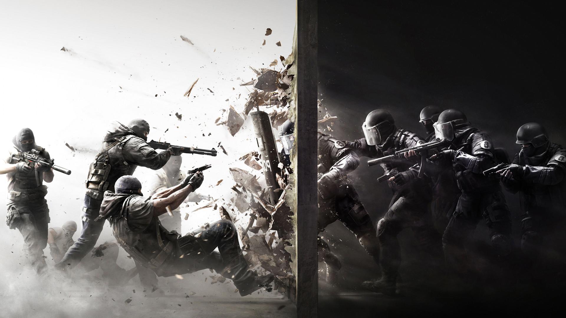 Wallpaper Police Gun Video Games Rainbow Six Siege