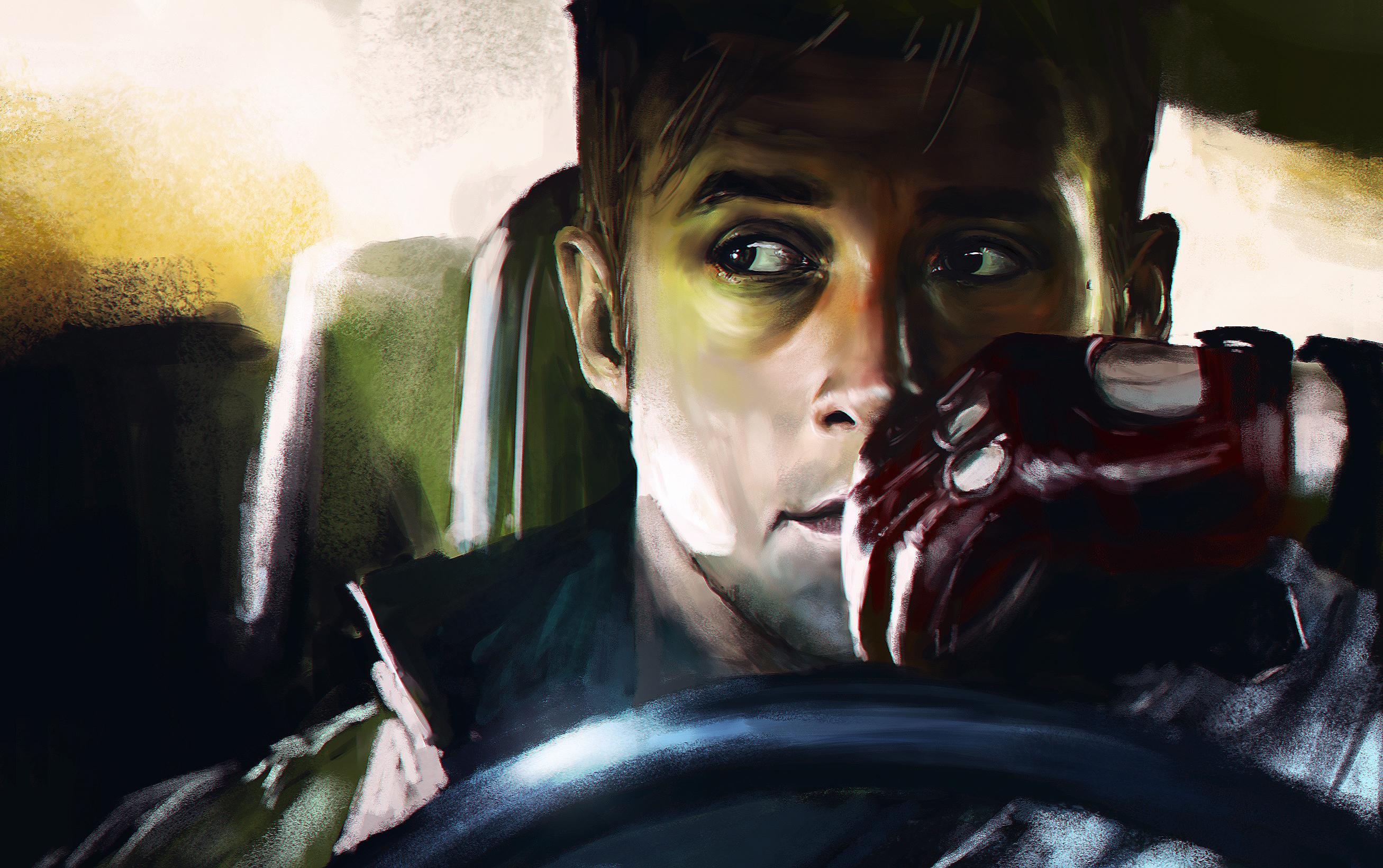 Wallpaper portrait ryan gosling driver drive art film portrait ryan gosling driver drive art film darkness fiction voltagebd Images