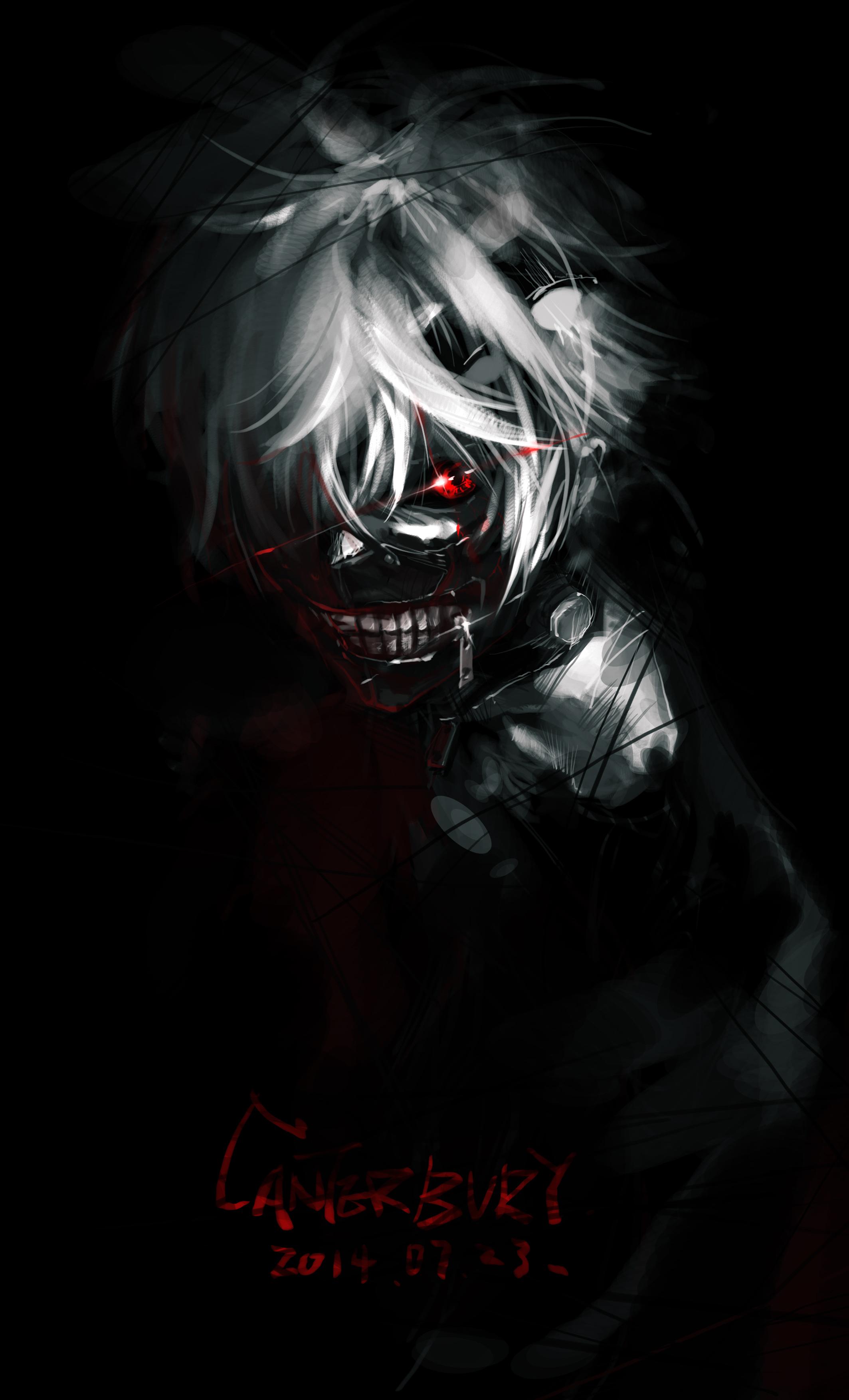 wallpaper portrait display tokyo ghoul kaneki ken dark anime