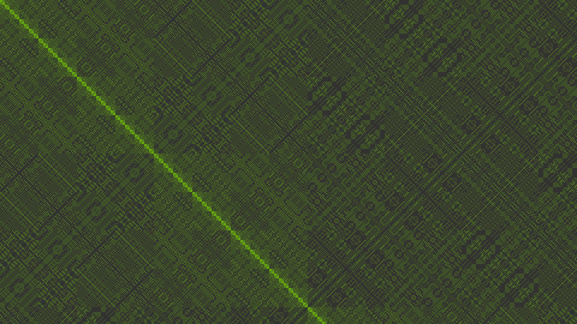 Wallpaper : procedural generation, green 1920x1080