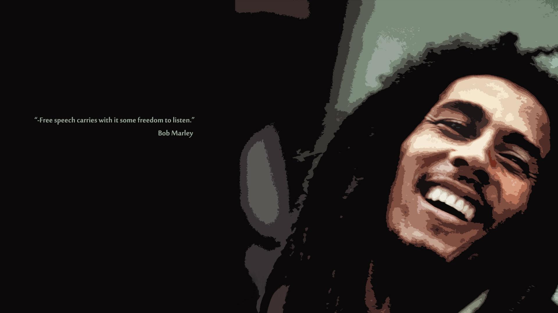Quote Dreadlocks Phrase Bob Marley Smile Beard Human Darkness Chin Shout Computer Wallpaper Font Album Cover