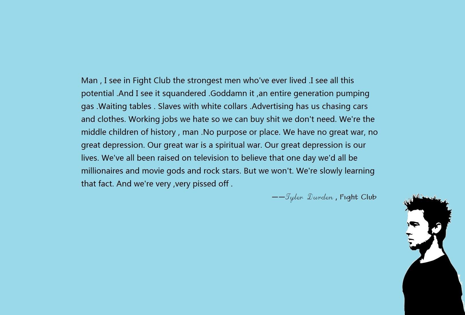 Wallpaper Quote Movies Text Brand Fight Club Tyler Durden