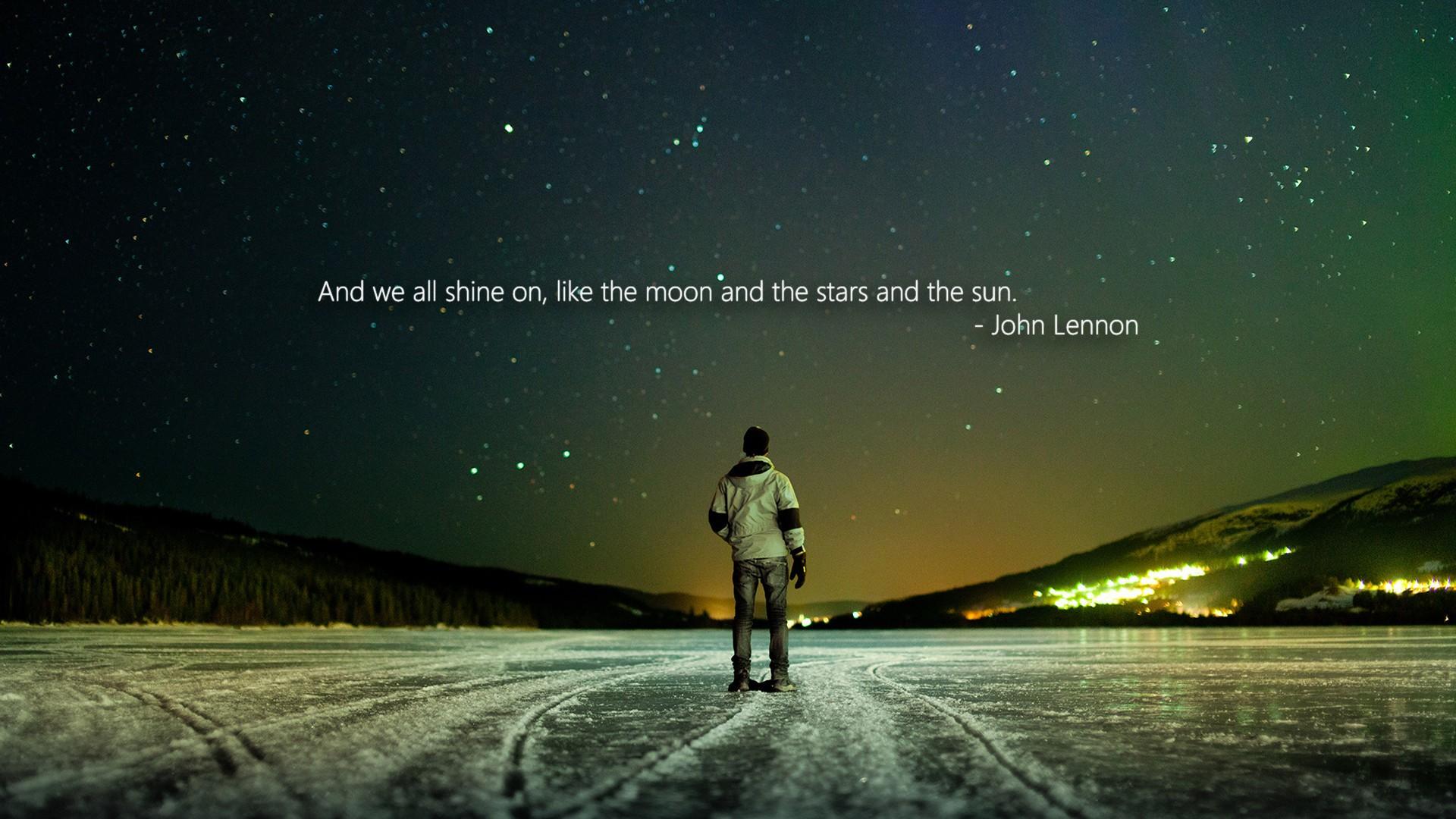 Wallpaper Quote Night Moonlight Atmosphere Aurora Midnight