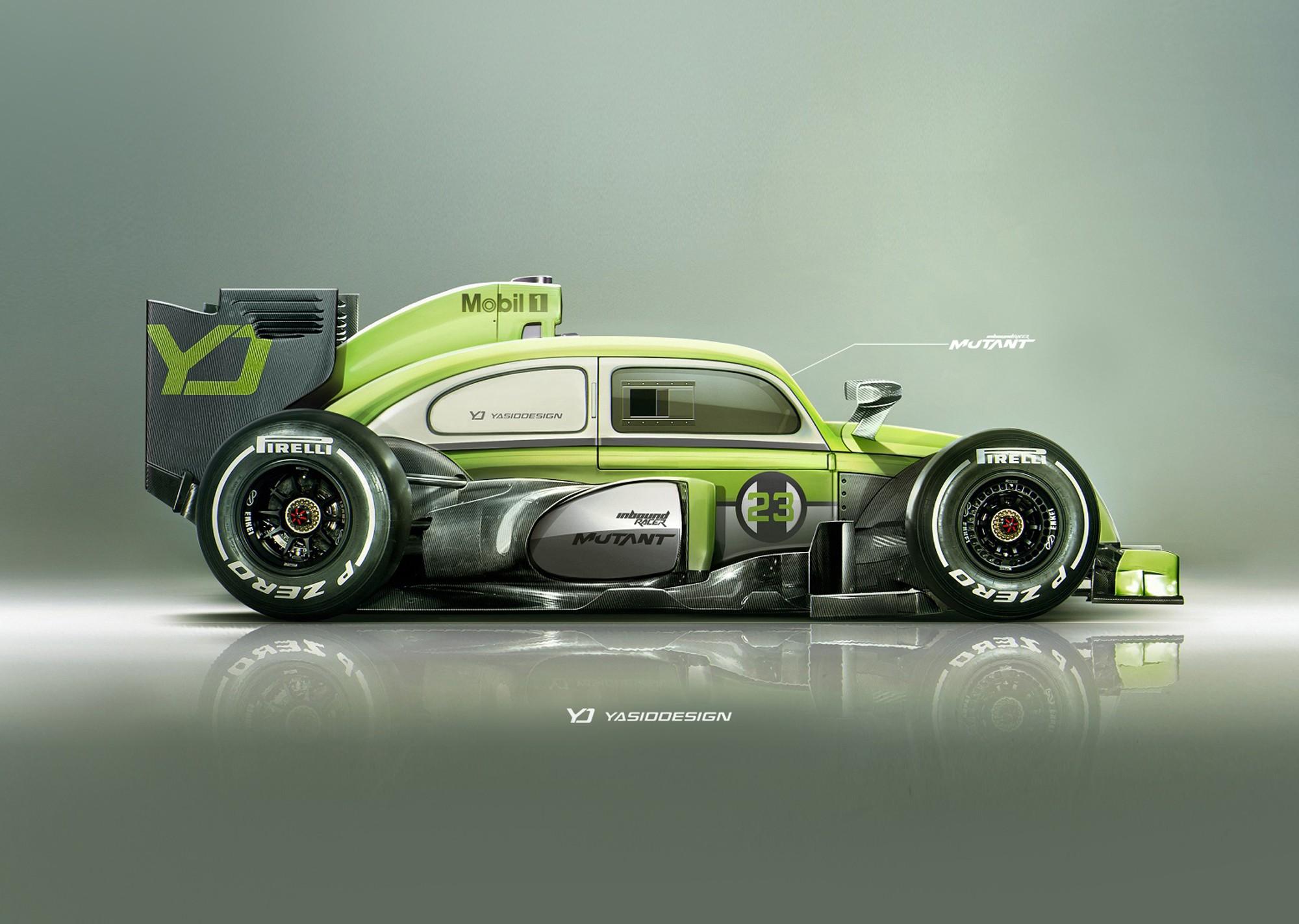 Wallpaper : Race Cars, Render, Artwork, Volkswagen Beetle, Porsche, Formula  1, Sports Car, YASIDDESIGN, Pirelli, Mobil 1, Supercar, Land Vehicle, ...