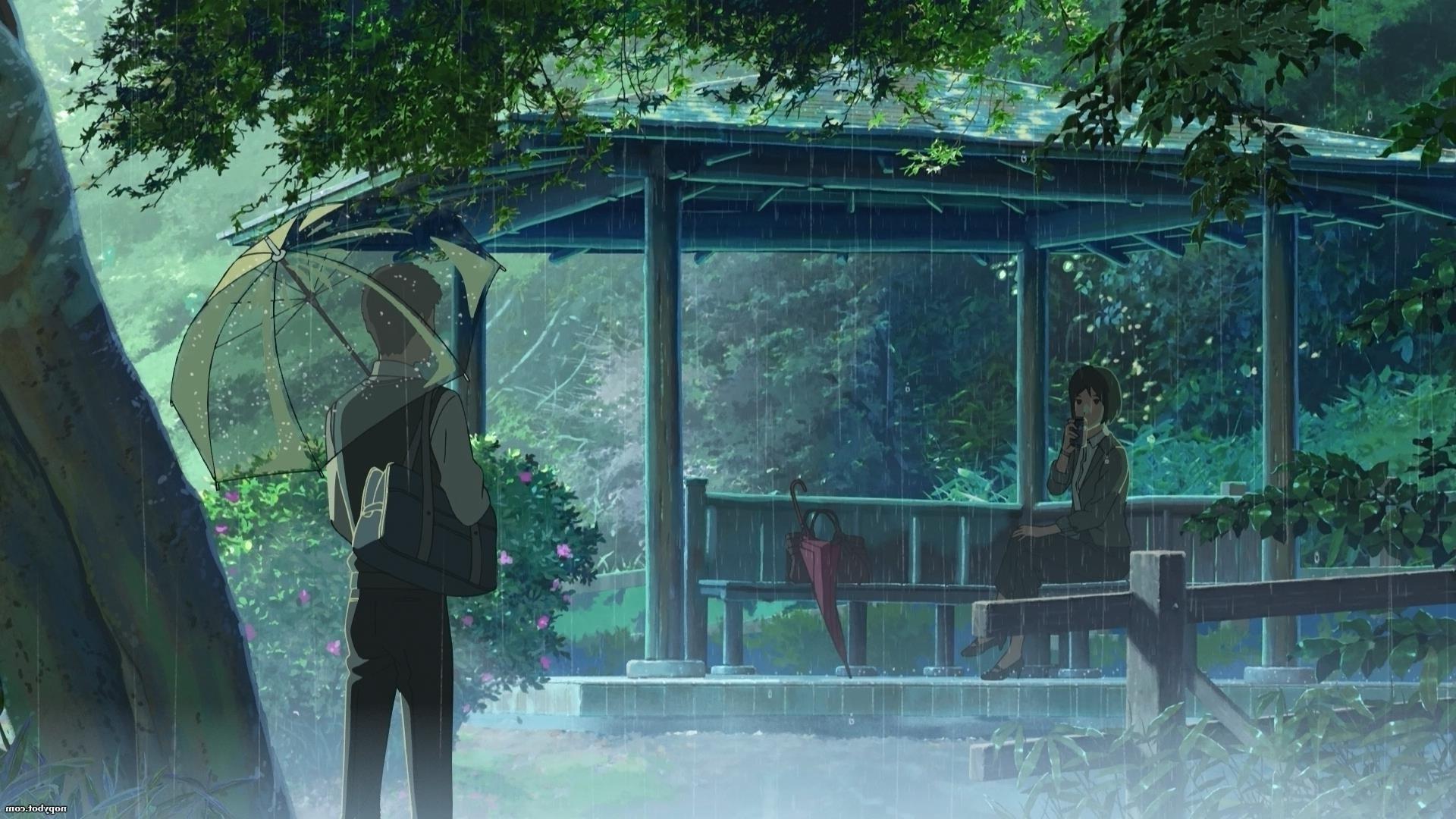 Marvelous Rain The Garden Of Words Jungle Makoto Shinkai 1920x1080 Px