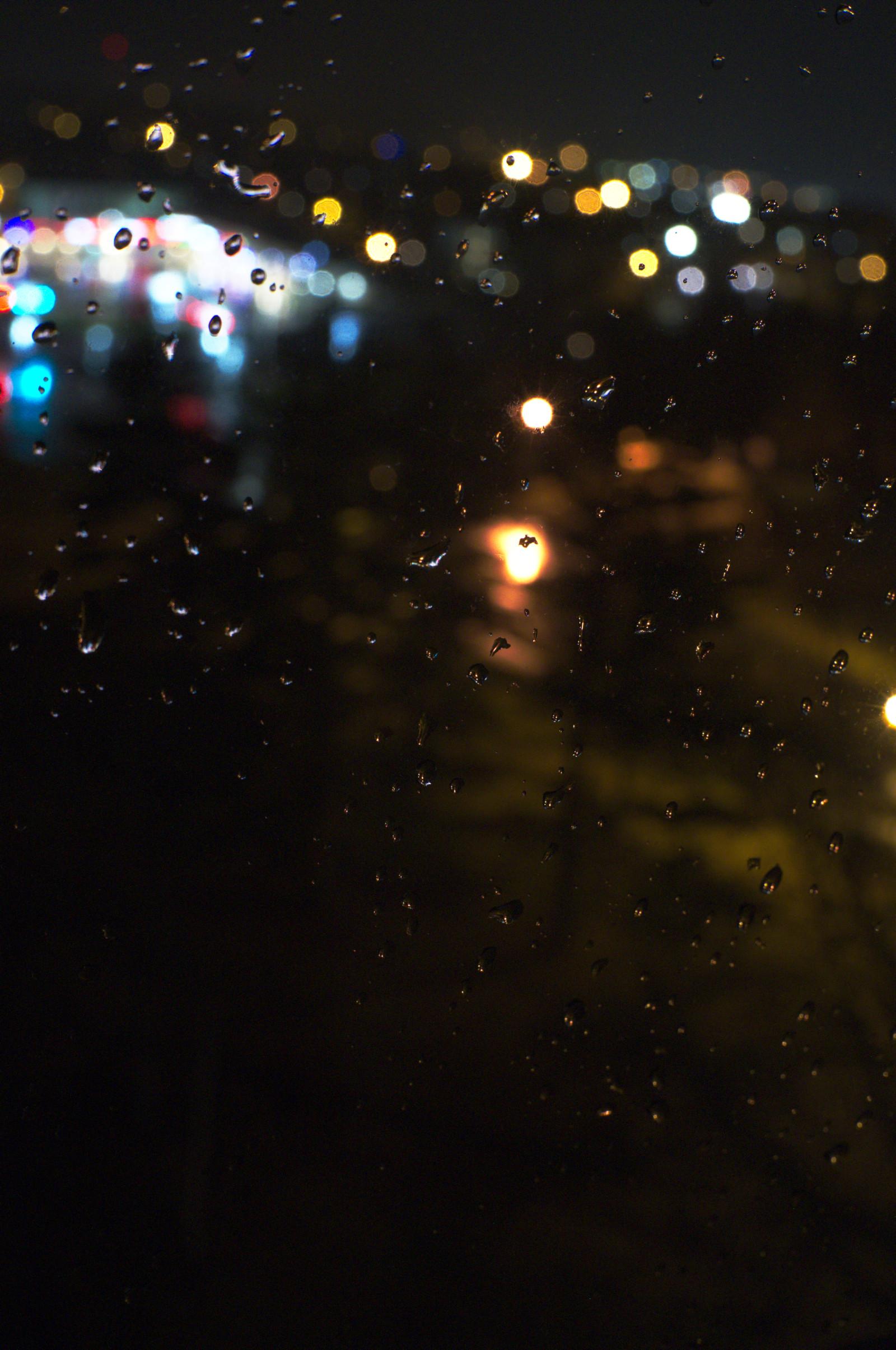 Wallpaper Rain Water Drops Dark Lights 1600x2410 Edemlegend