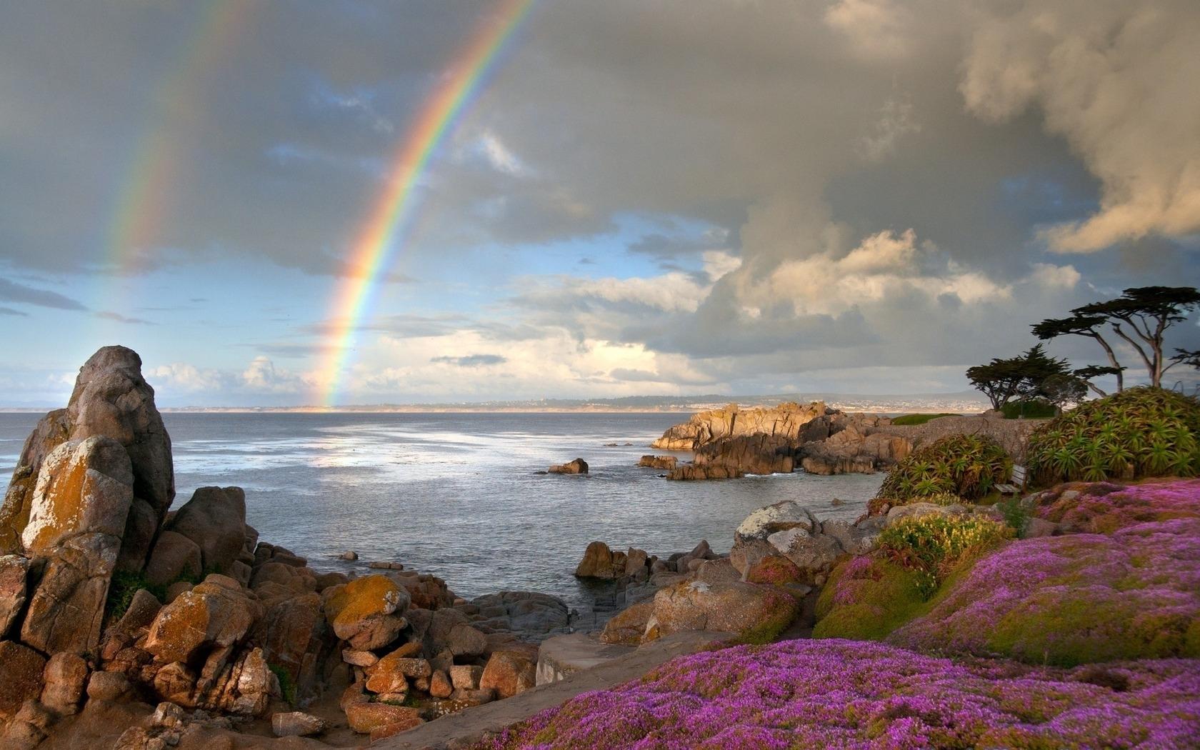 домов обои море радуга какой