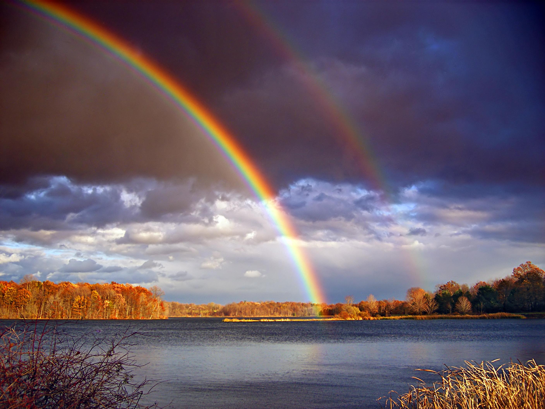 Wallpaper : Pelangi, langit, alam, suasana, air, fenomena