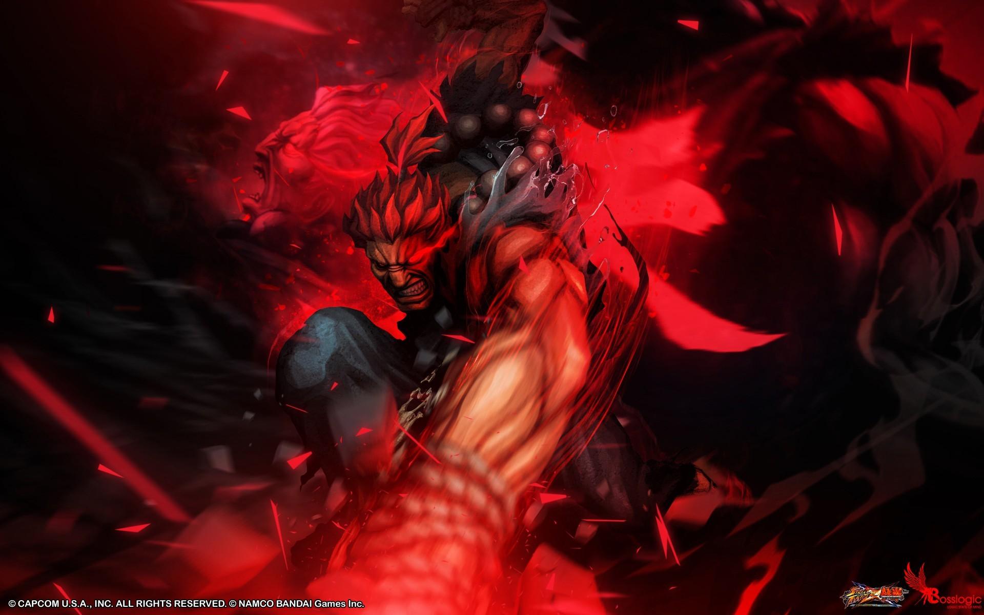Wallpaper : red, Street Fighter, demon, Capcom, Akuma ...