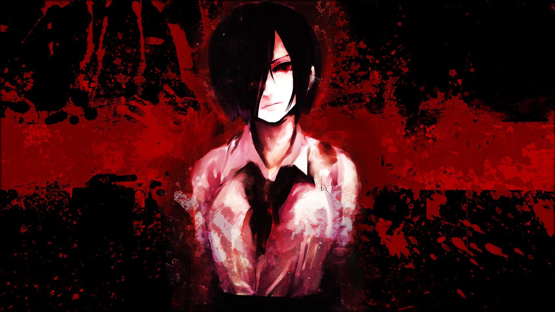 Wallpaper Red Tokyo Ghoul Kirishima Touka Darkness