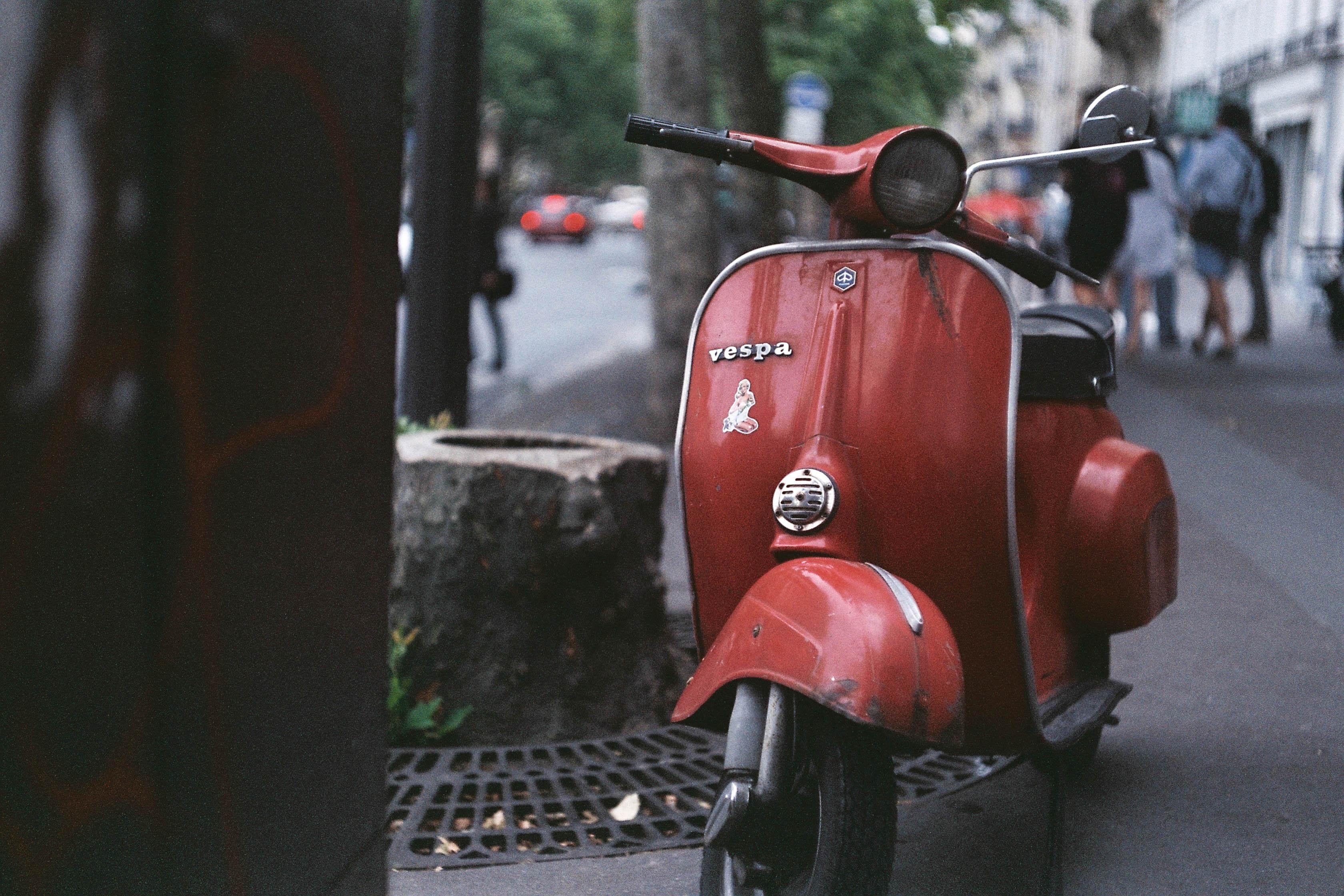 Wallpaper Red Motorcycle Vehicle Leica Vespa Fujifilm 2014