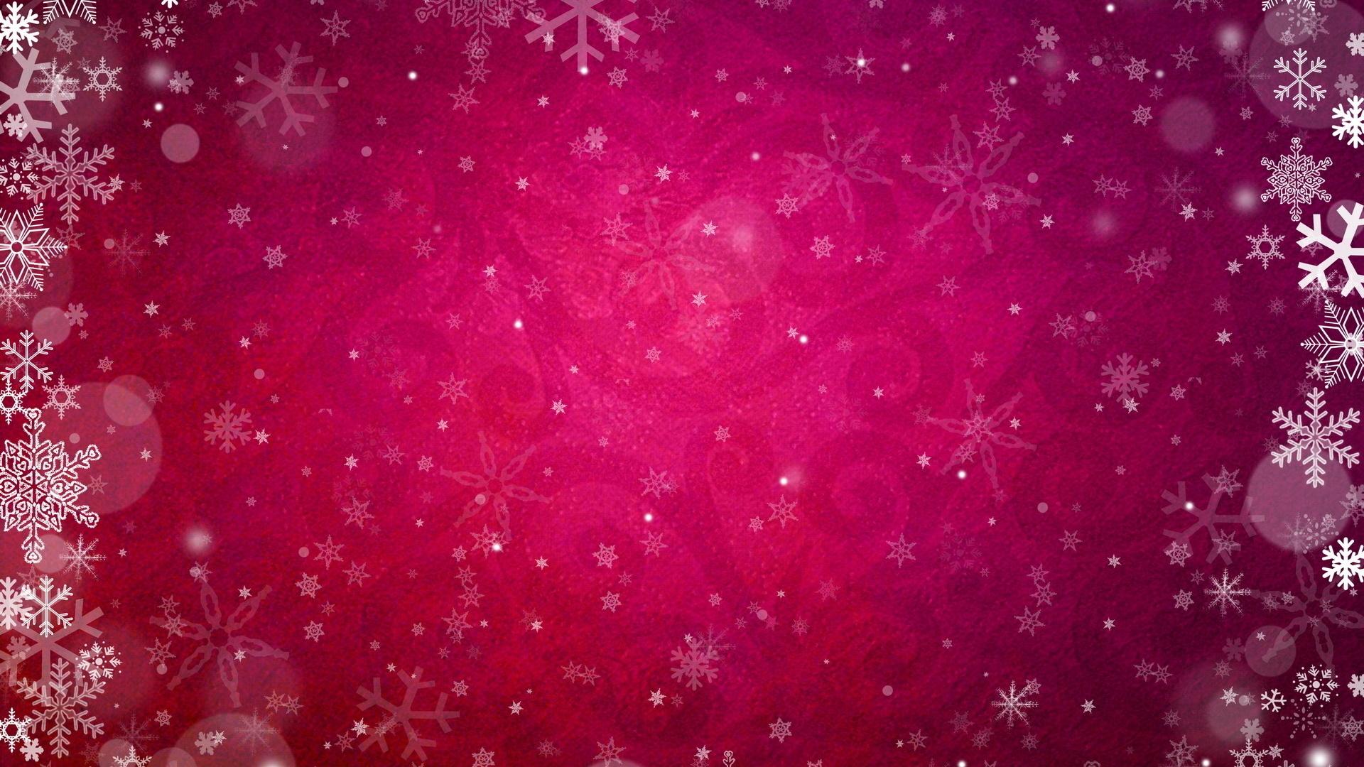 Wallpaper Red Snow Texture Circle Snowflakes Pink