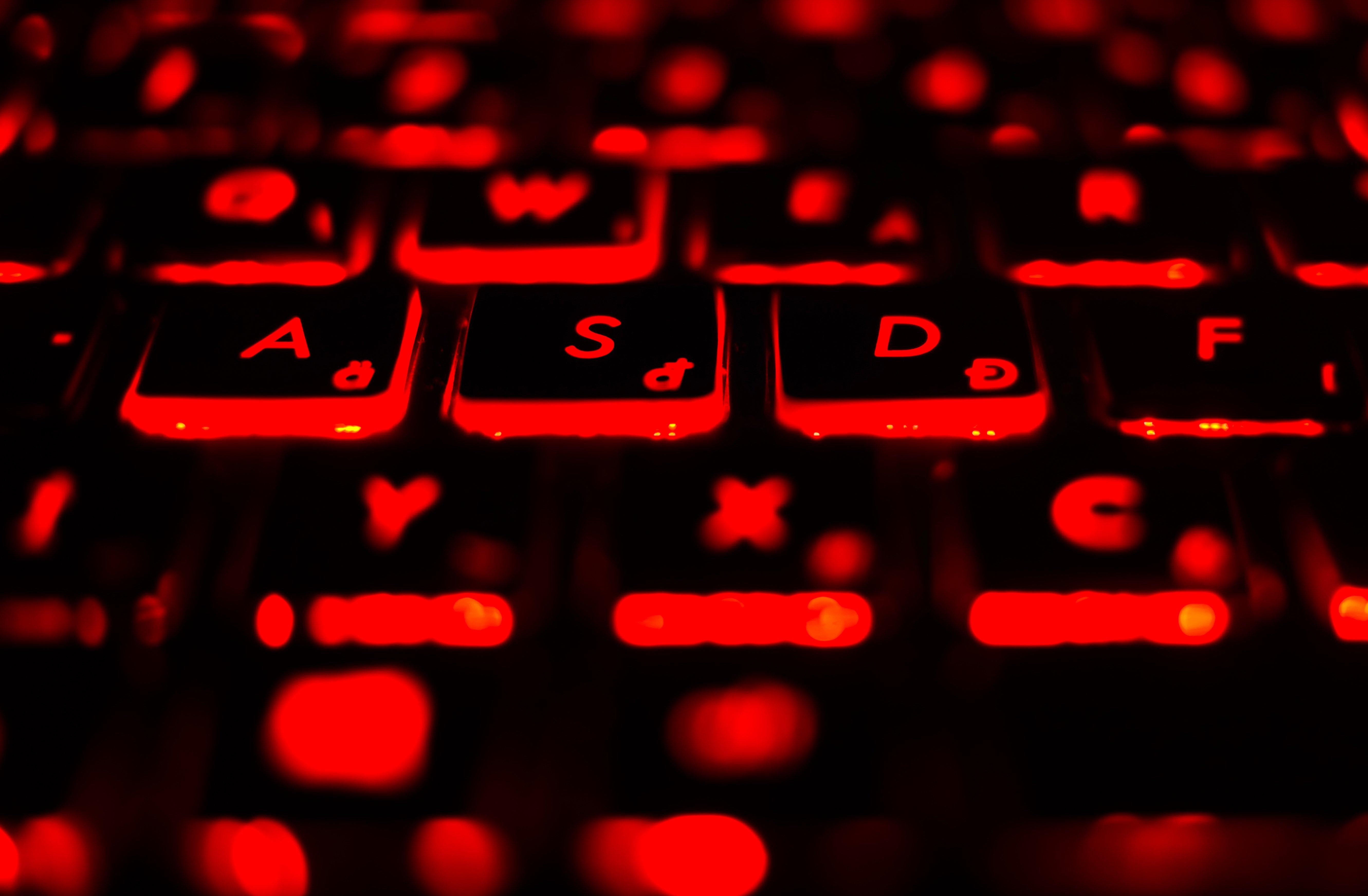 Wallpaper : red, text, macro, Sony, Gamer, neon sign, keys