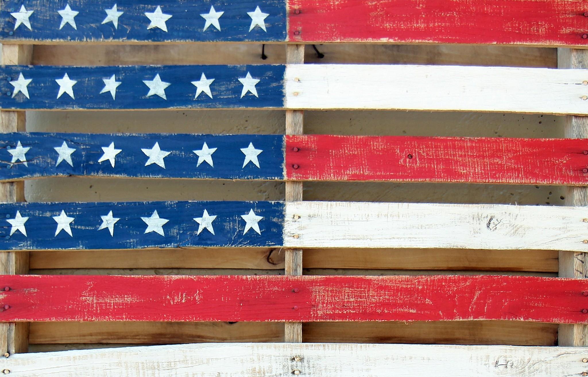 Masaüstü Kırmızı Duvar Bayrak Desen Amerikan Bayrağı Amerika