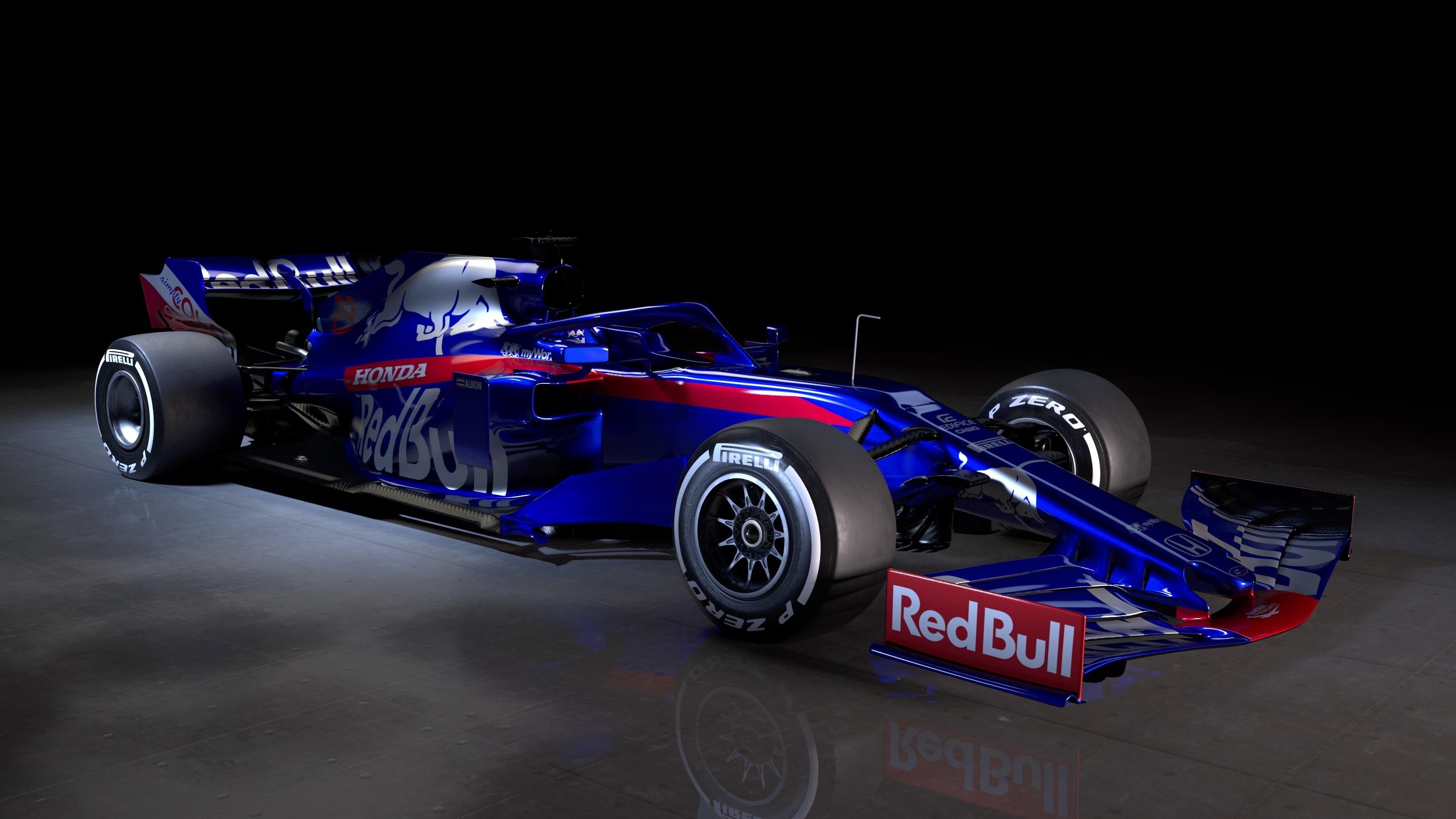 Fond d'écran : renault r s 19, Formule 1, 2019, voiture, jaune, Toro Rosso, STR14, Ferrari, SF90 ...