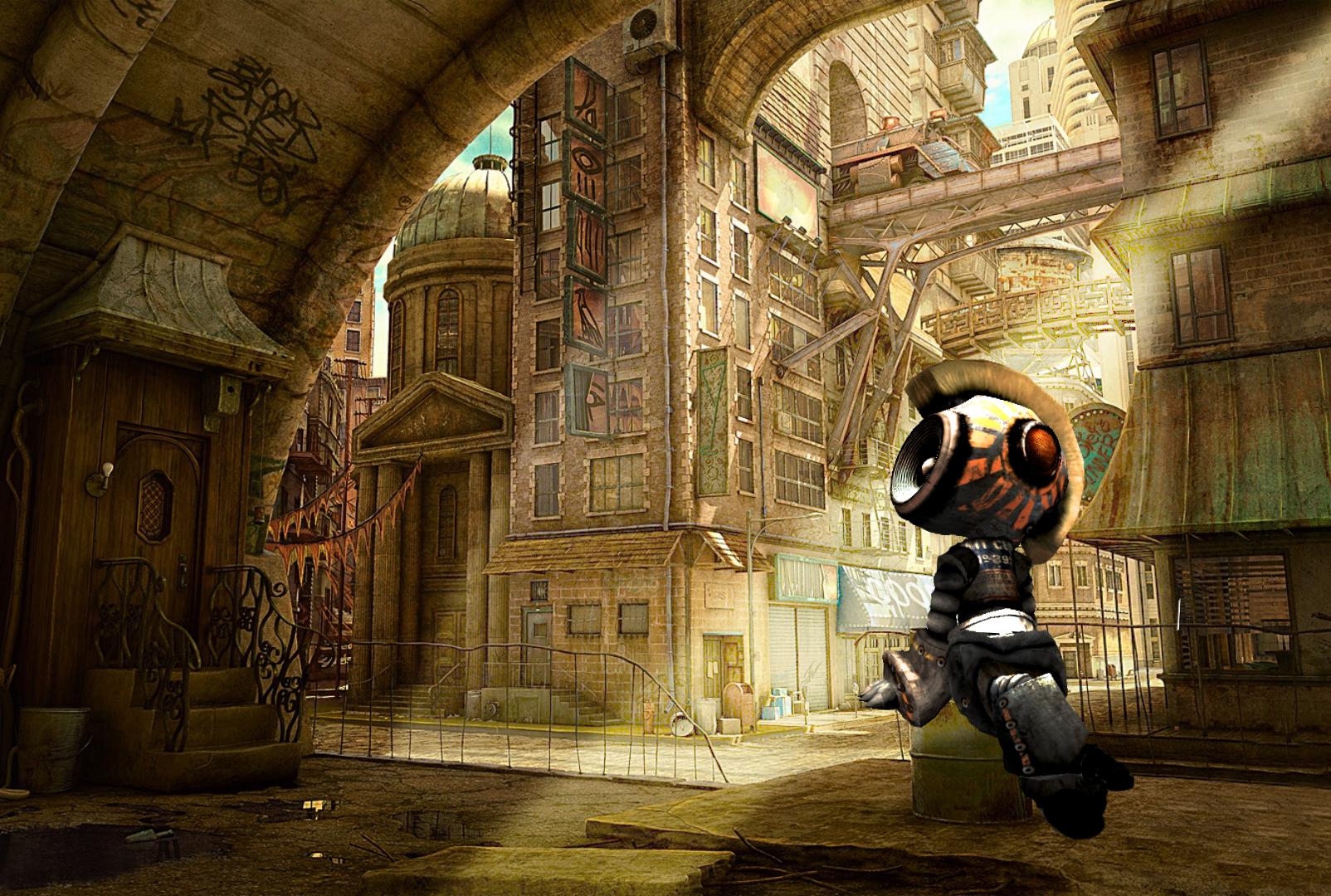 Wallpaper : robot, building, roleplay, games, screenshot