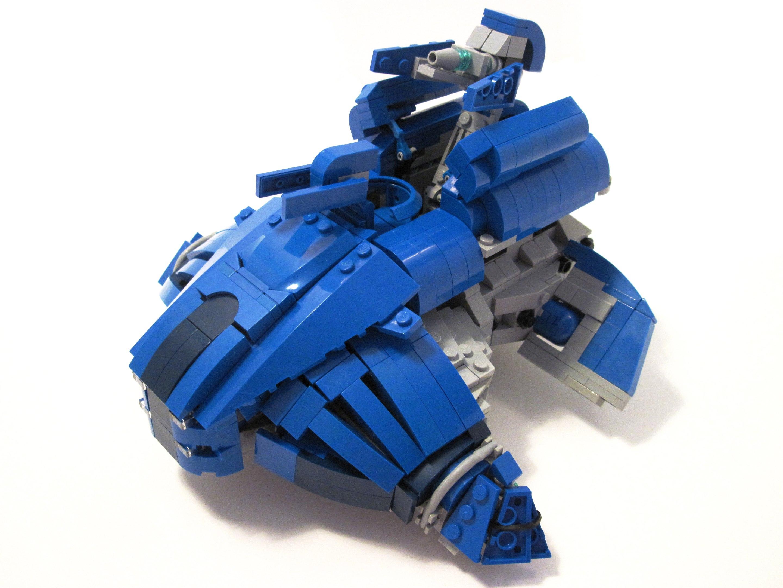 Robot Vehicle Blue Tank LEGO Halo Ghost Toy Machine Master UNSC Banshee Mongoose Chief Scorpion Phantom