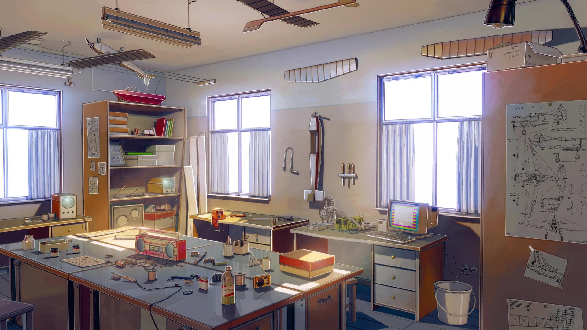 Classroom Kitchen Design ~ Wallpaper room aircraft kitchen computer classroom