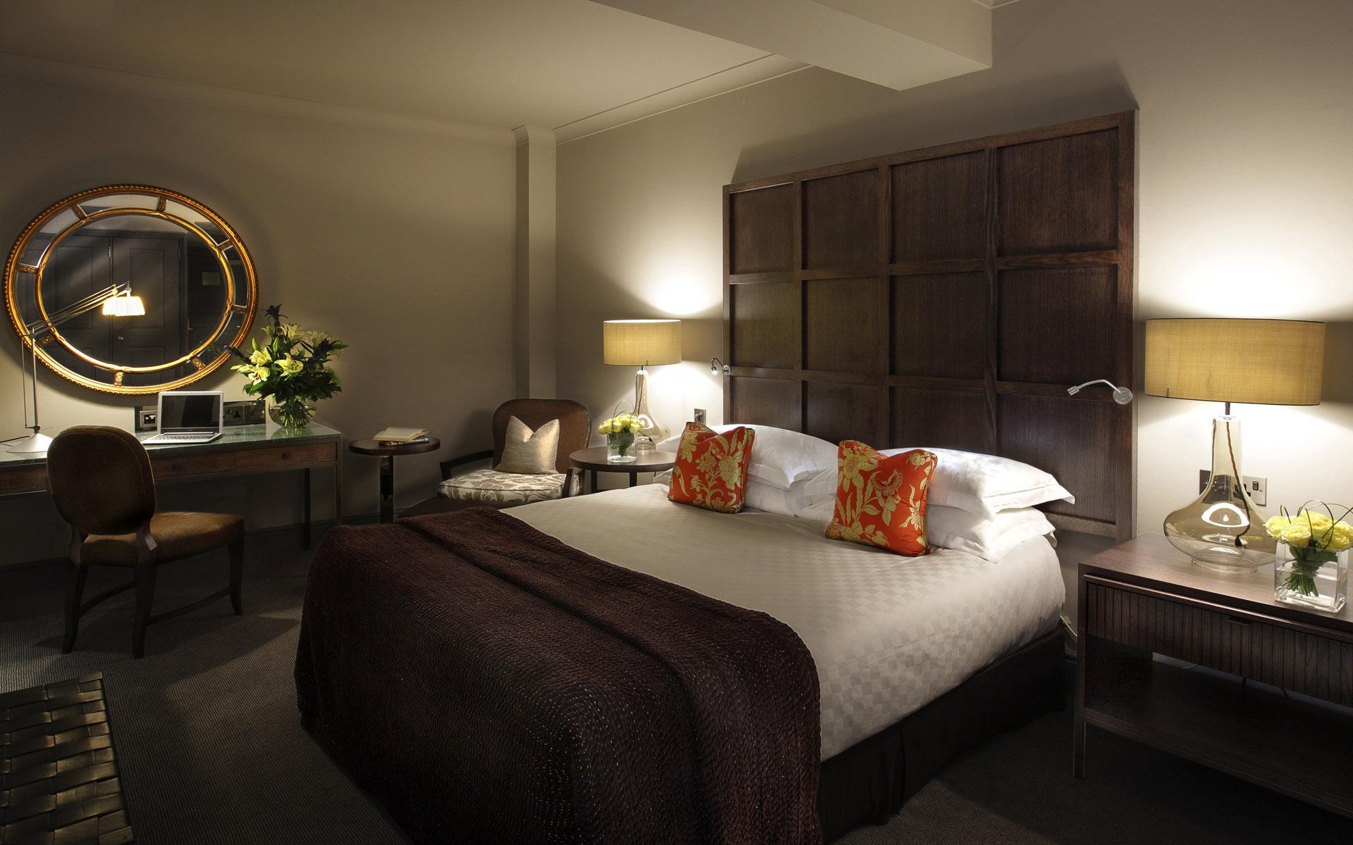 Fondos de pantalla : habitación, cama, mesa, silla, espejo, Cuarto ...
