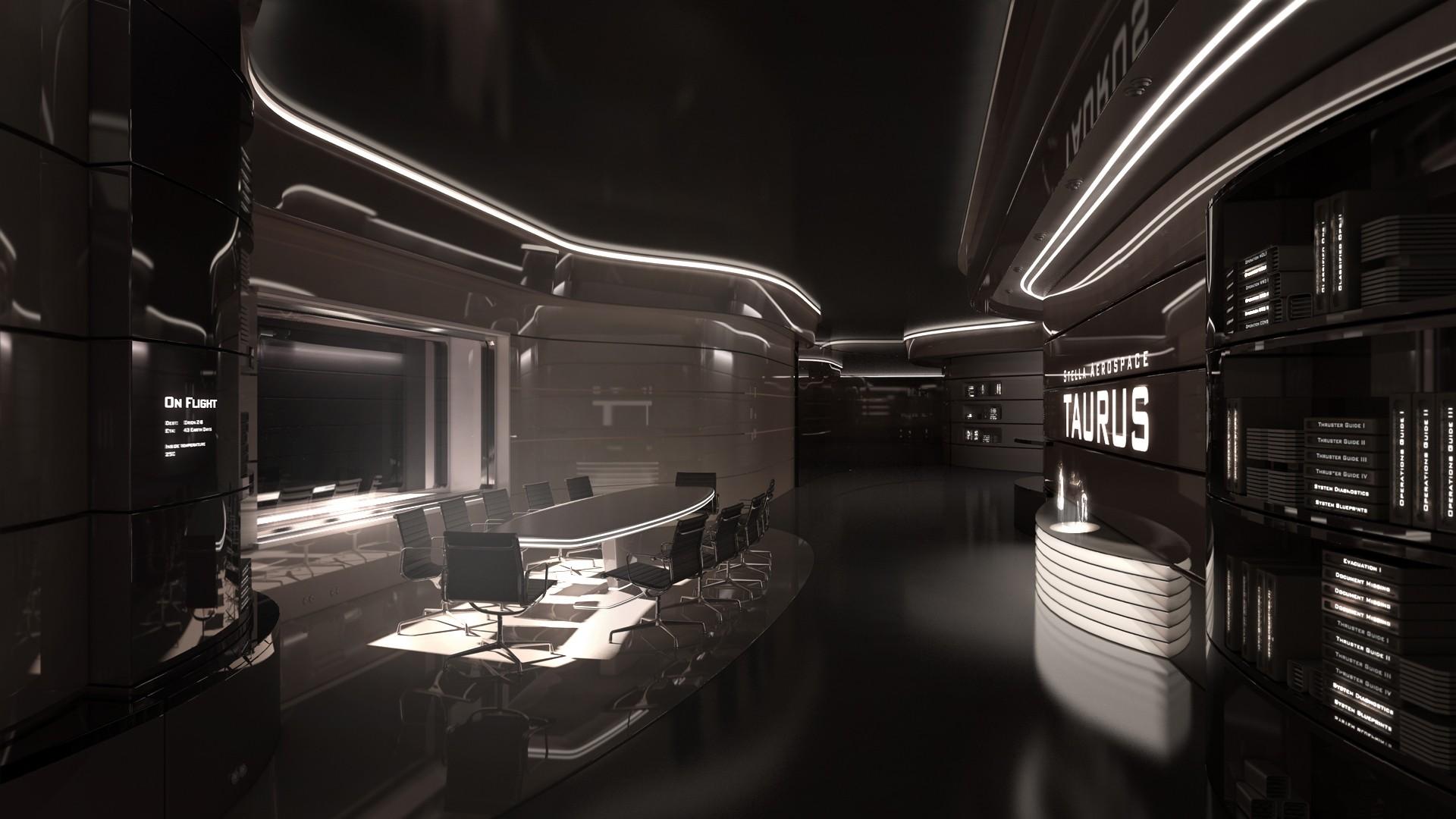 Fondos de pantalla habitaci n futurista moderno - Space wallpaper room ...