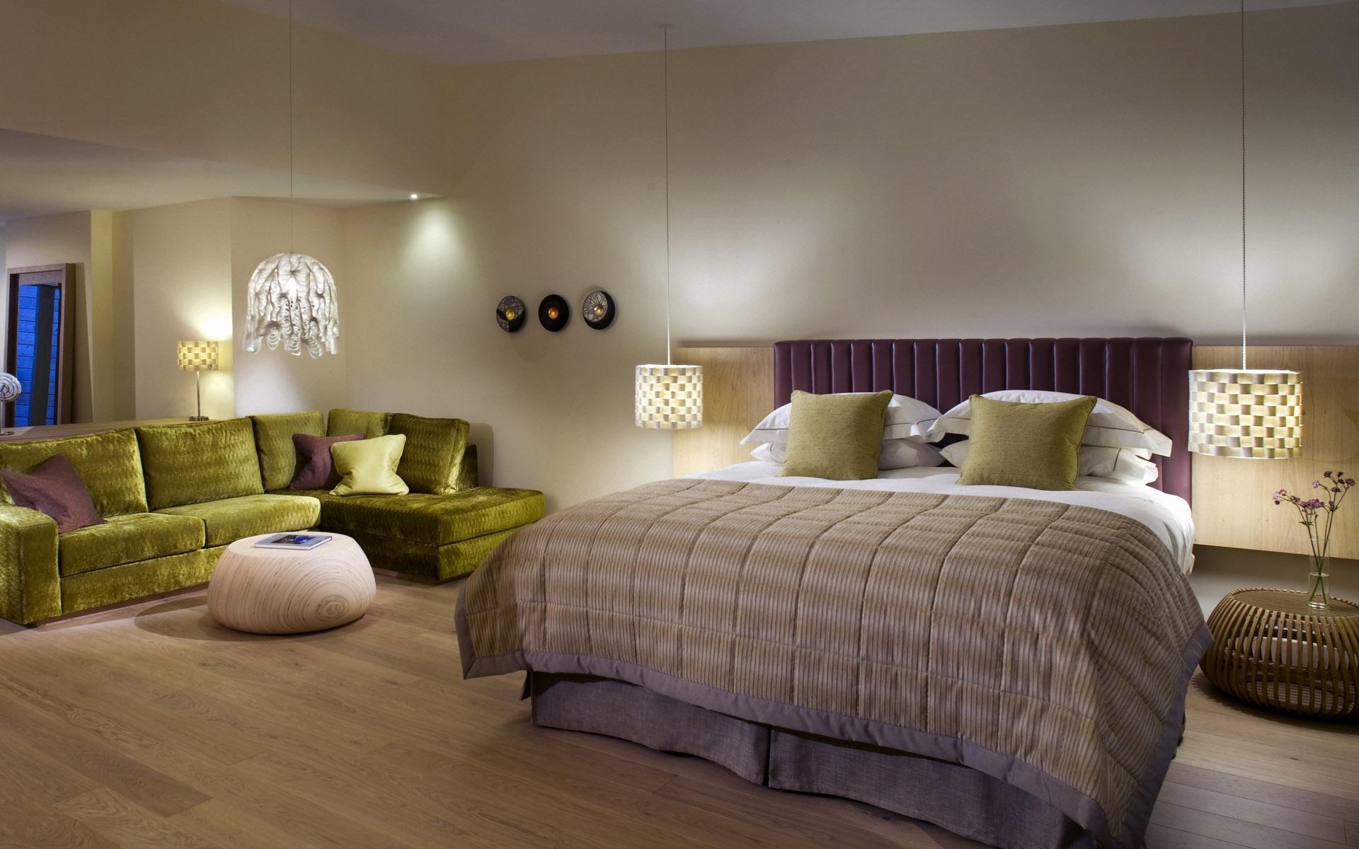 デスクトップ壁紙 寝室 インテリア デザイン コテージ