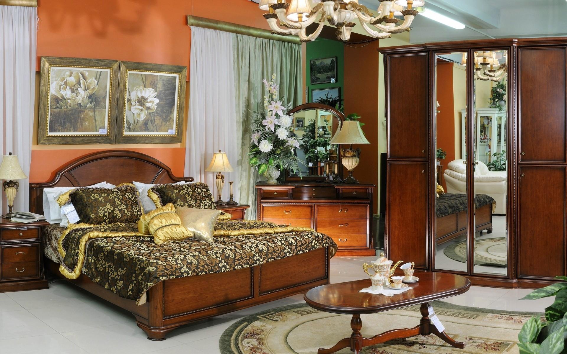 Baggrunde : værelse, interiør, seng, tabel, gardin, gardiner ...