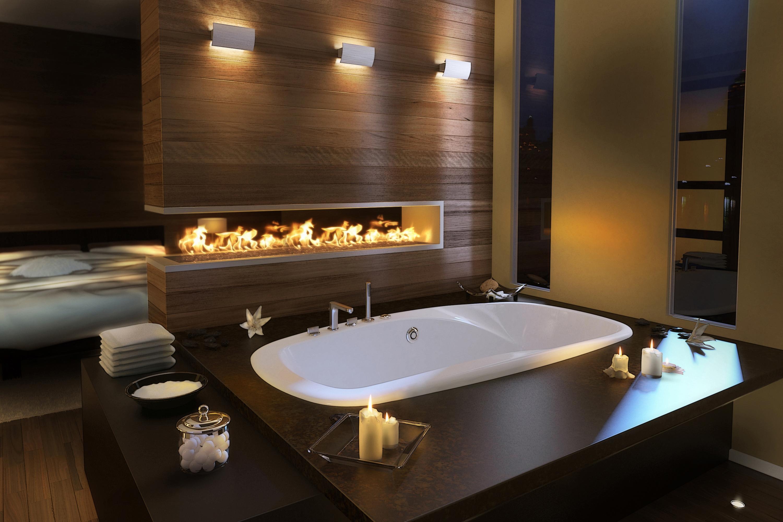 Sfondi : camera, interno, candele, fuoco, piscina, vasca da ...