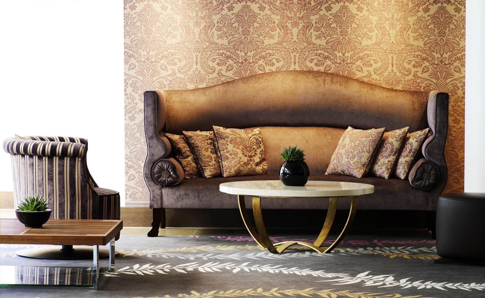 Baggrunde : værelse, interiør, væg, tabel, stol, Brun, mønster ...