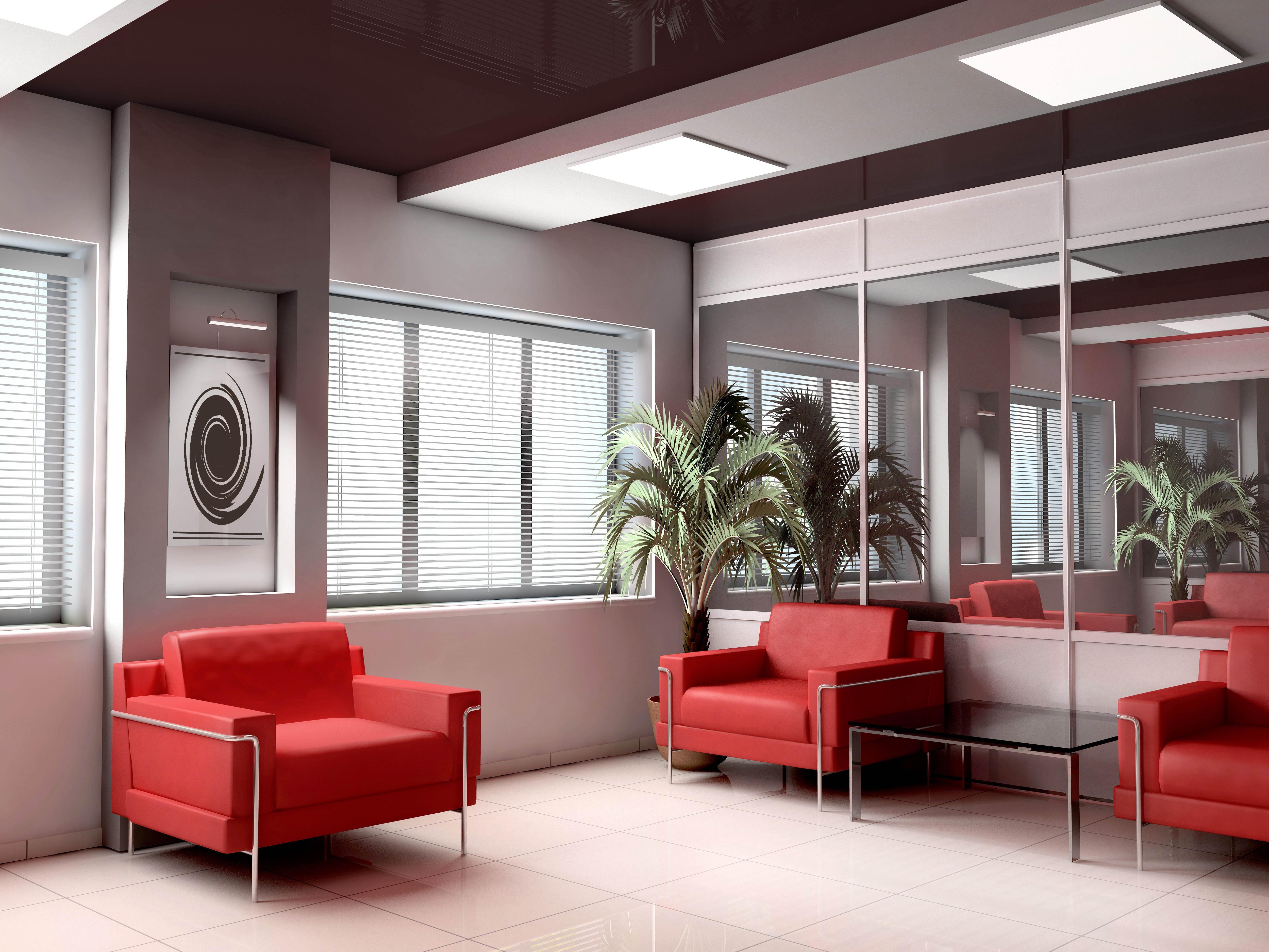 Fond d écran chambre bureau design d intérieur éclairage