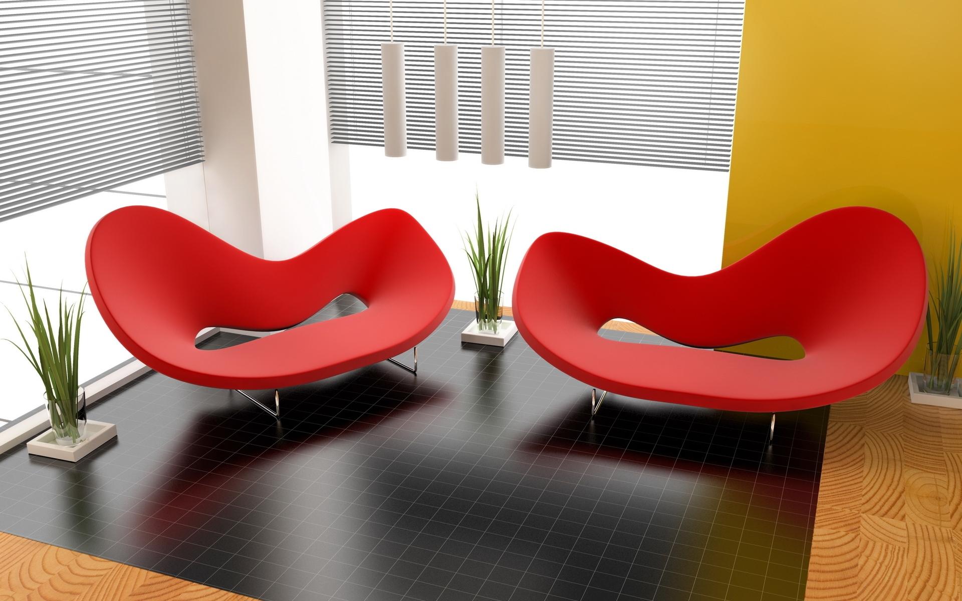 Wallpaper plants table interior design color form style