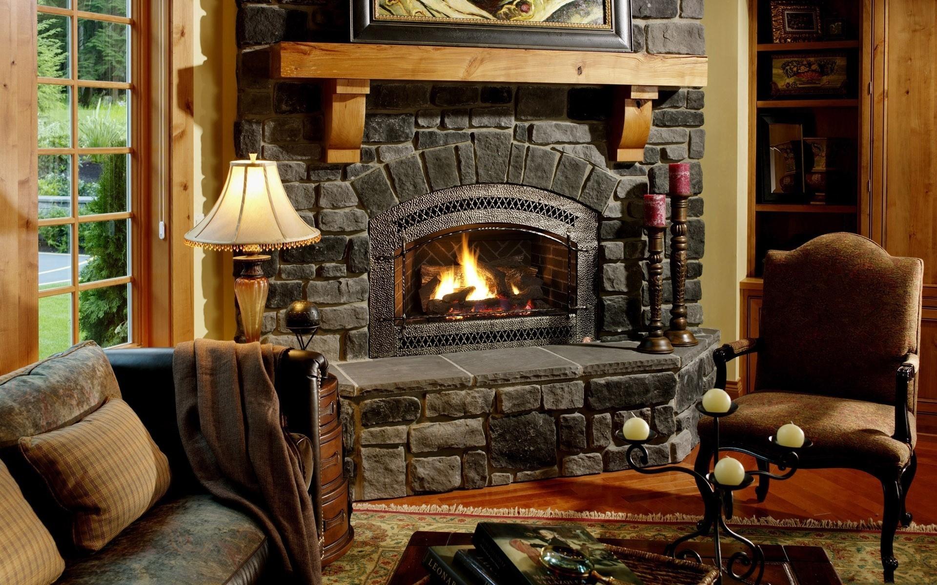 Chair Fireplace Interior Design