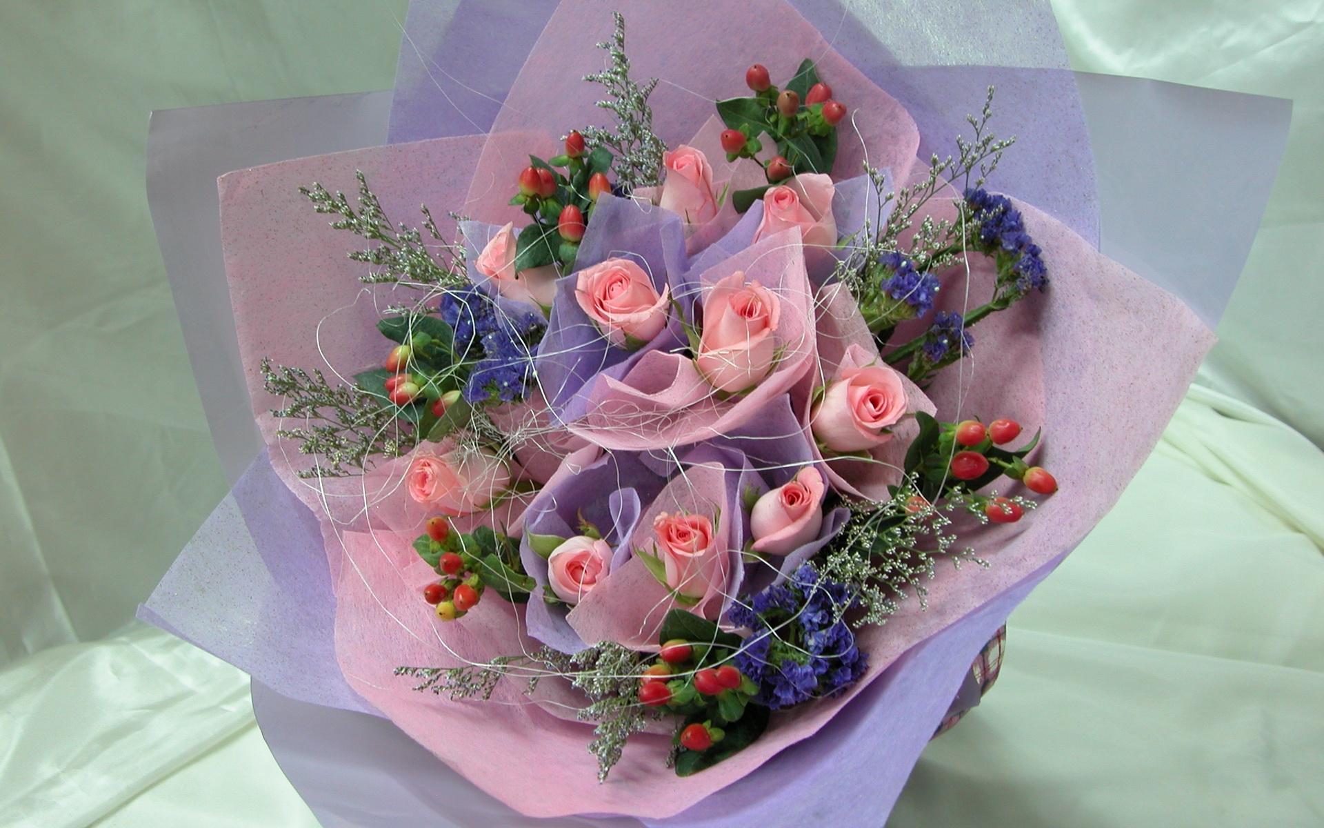 Открытки и упаковка цветов, открытка днем