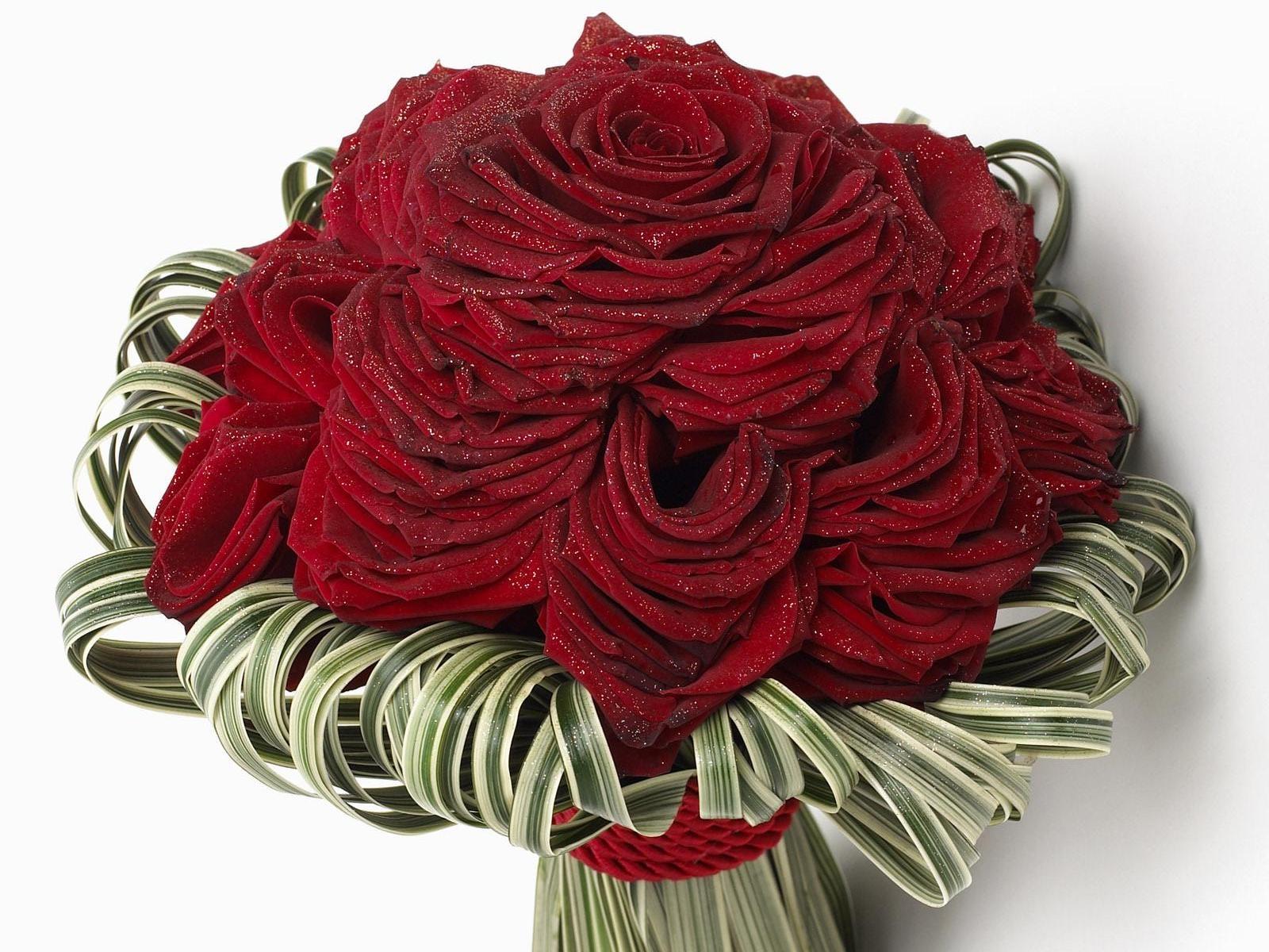 Wallpaper Roses Flowers Flower Glitter Design 1600x1200